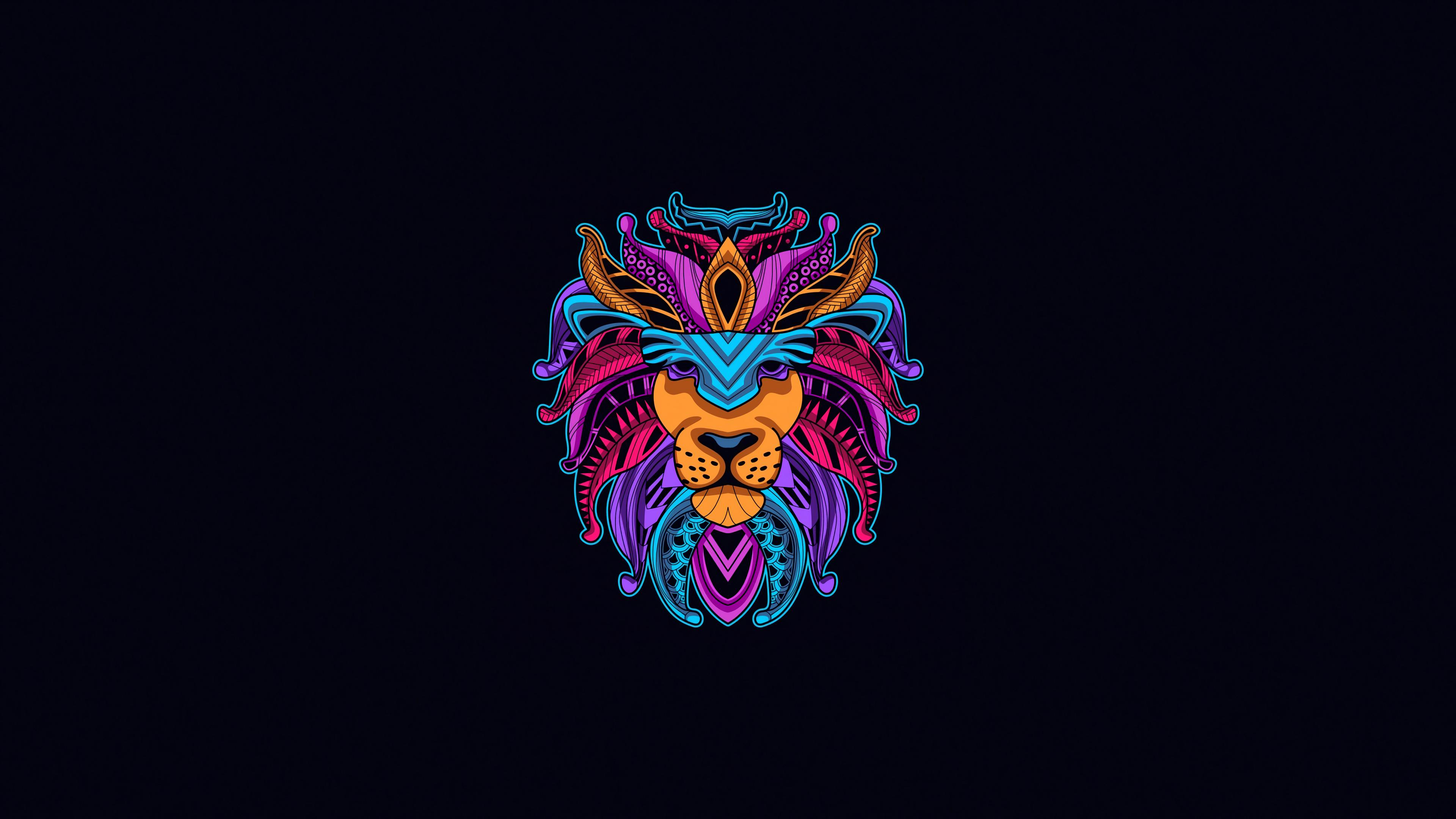 Lion Minimal 4k Hd Artist 4k Wallpapers Images