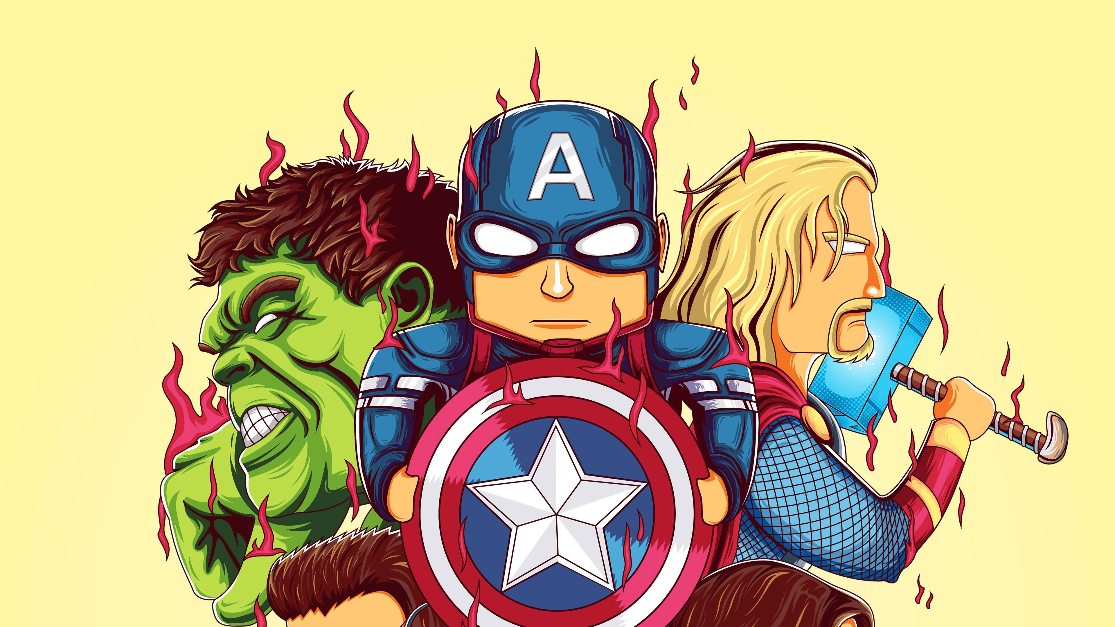 Little Avengers 4k, HD Superheroes, 4k Wallpapers, Images