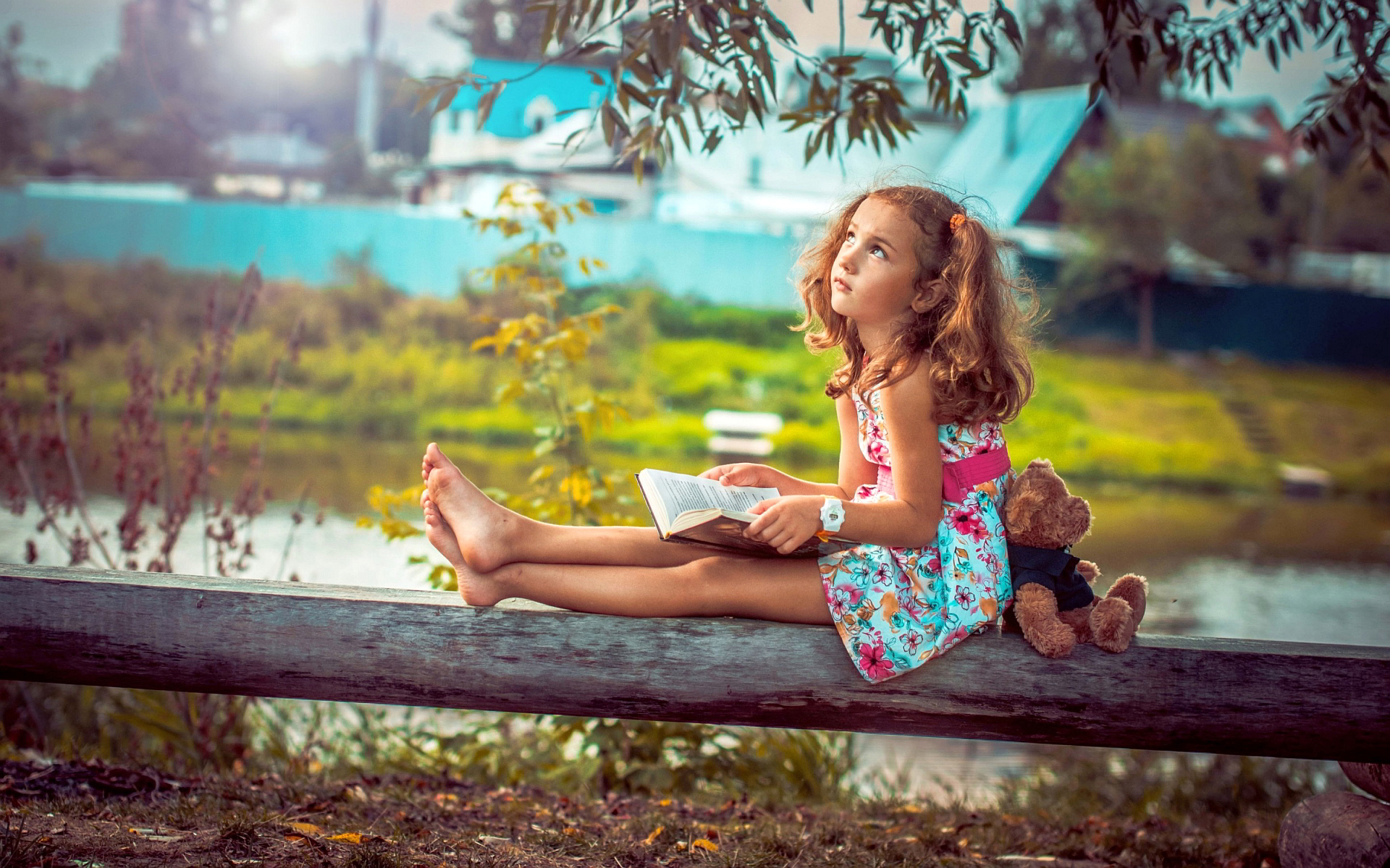 Little Girl Reading A Book Hd Girls 4k Wallpapers Images
