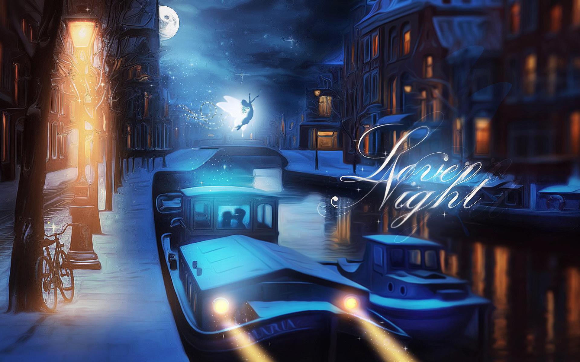 Lovely Night Digital Art Hd Artist 4k Wallpapers Images