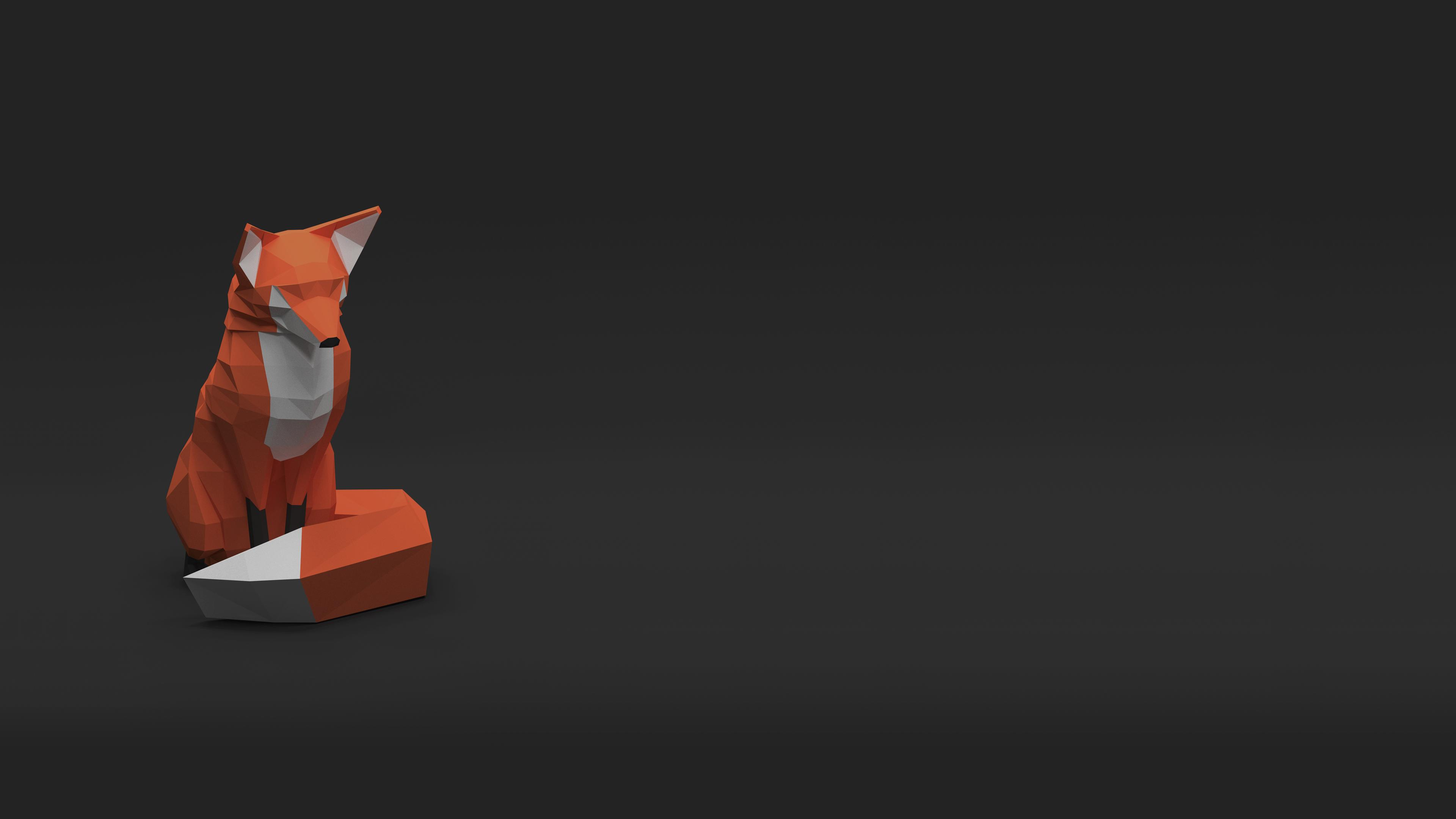 Low Poly Fox [3840x2160] (hdqwalls.com)