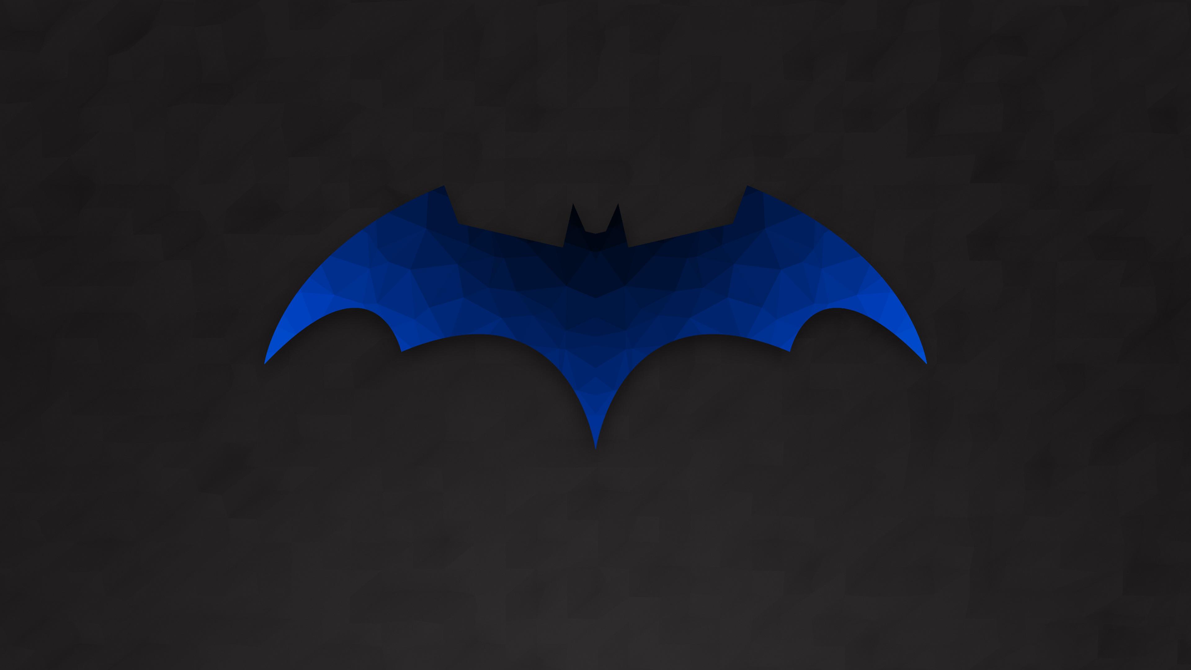 1366x768 Low Polygon Batman Logo 1366x768 Resolution HD 4k ...