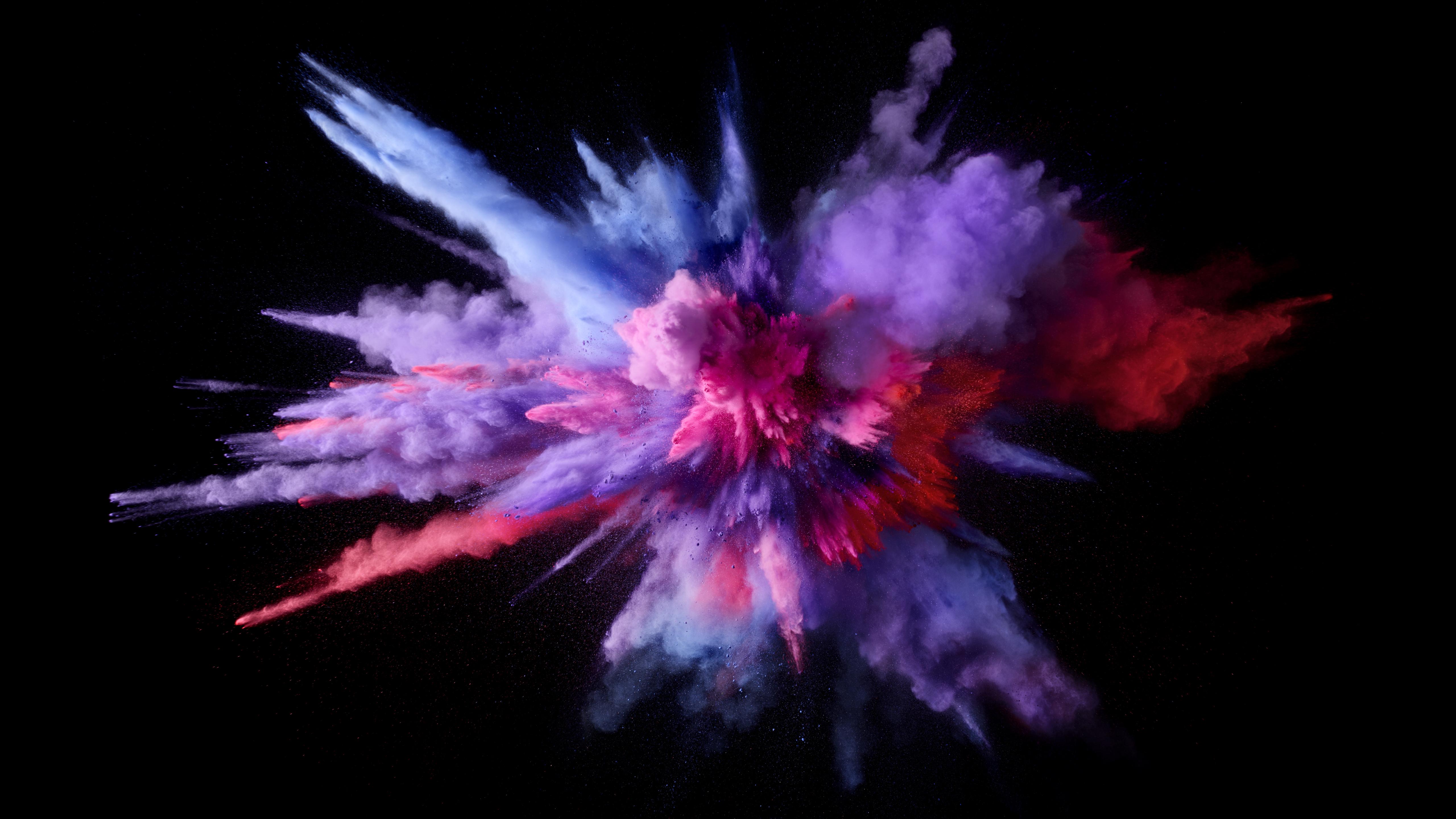Mac Os Sierra Color Splash Purple Hd Abstract 4k