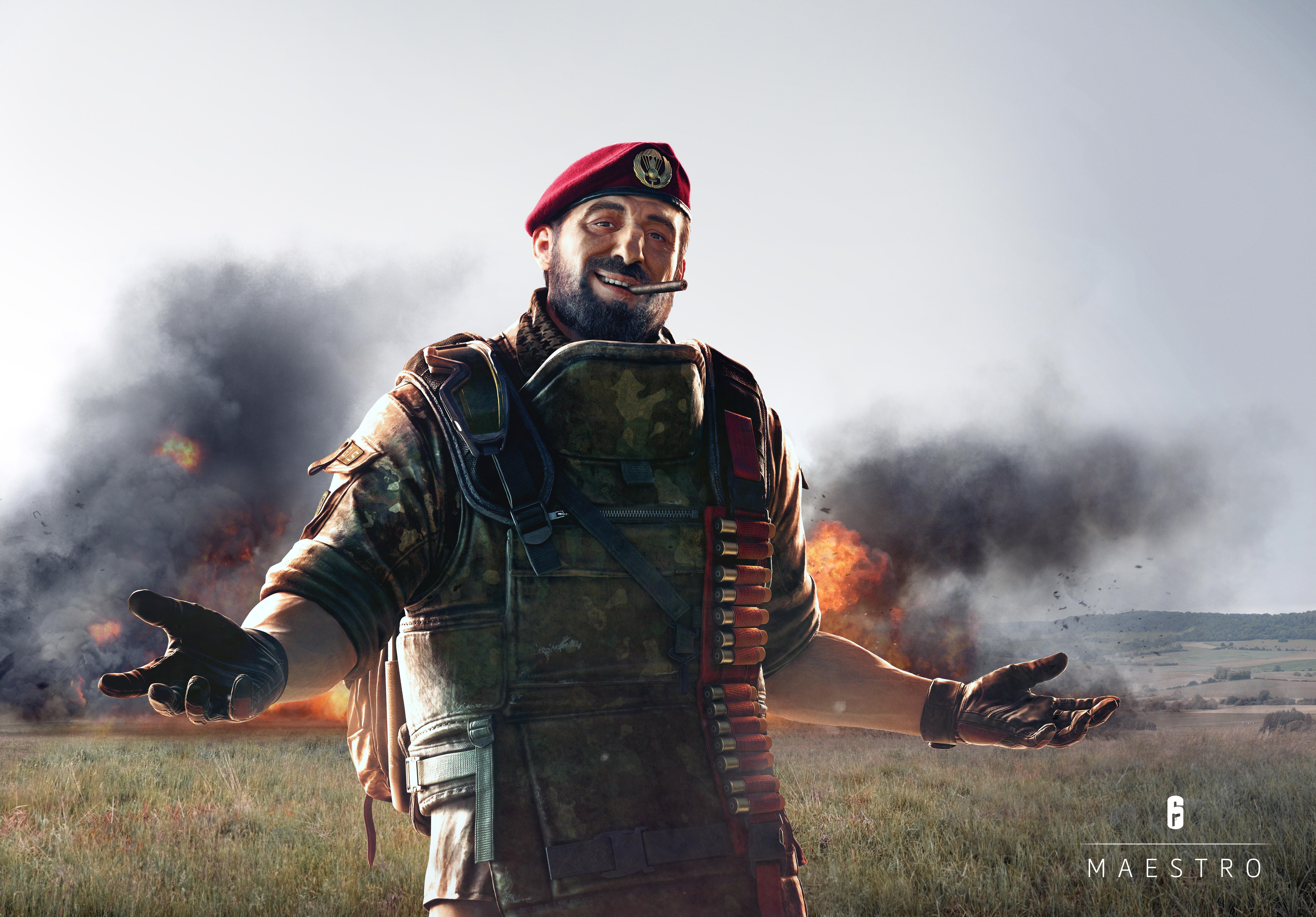 Maestro Tom Clancys Rainbow Six Siege 8k, HD Games, 4k