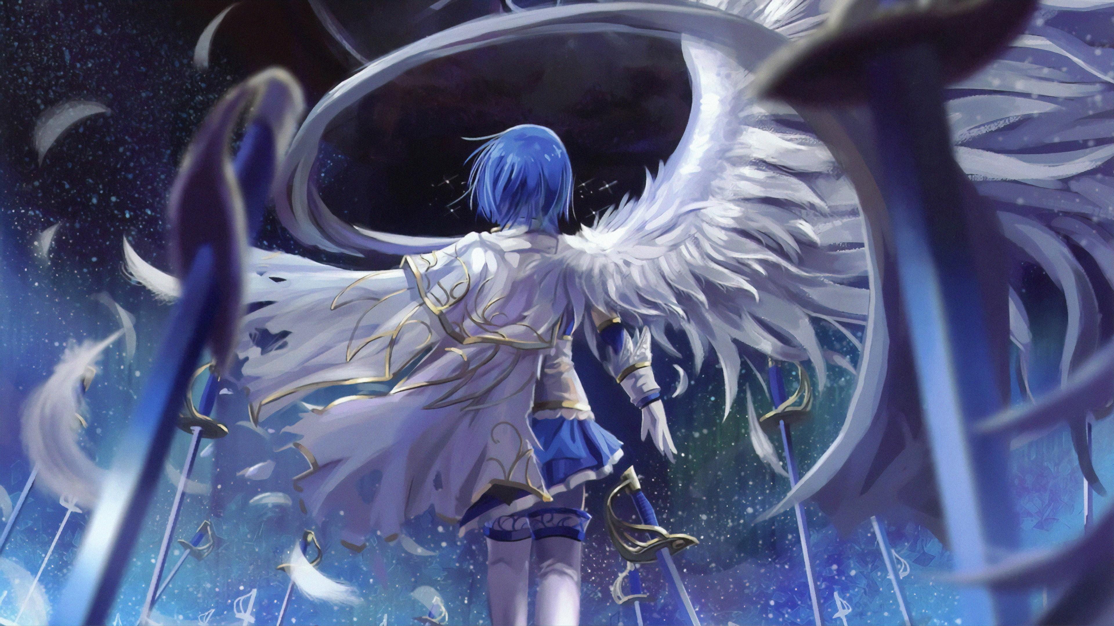 Mahou Shoujo Madoka Magica Blue Hair Anime 4k, HD Anime ...