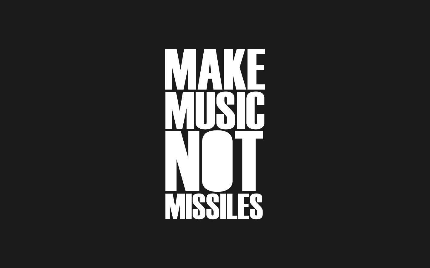 Popular Wallpaper Music Android - make-music-not-missiles-wide  Graphic_75904.jpg