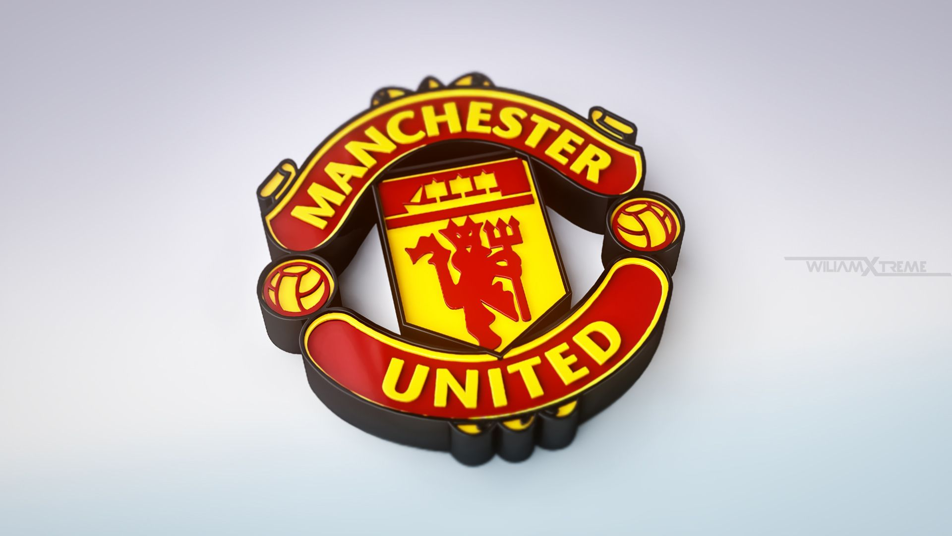 Manchester united 3d logo hd sports 4k wallpapers images manchester united 3d logo voltagebd Gallery
