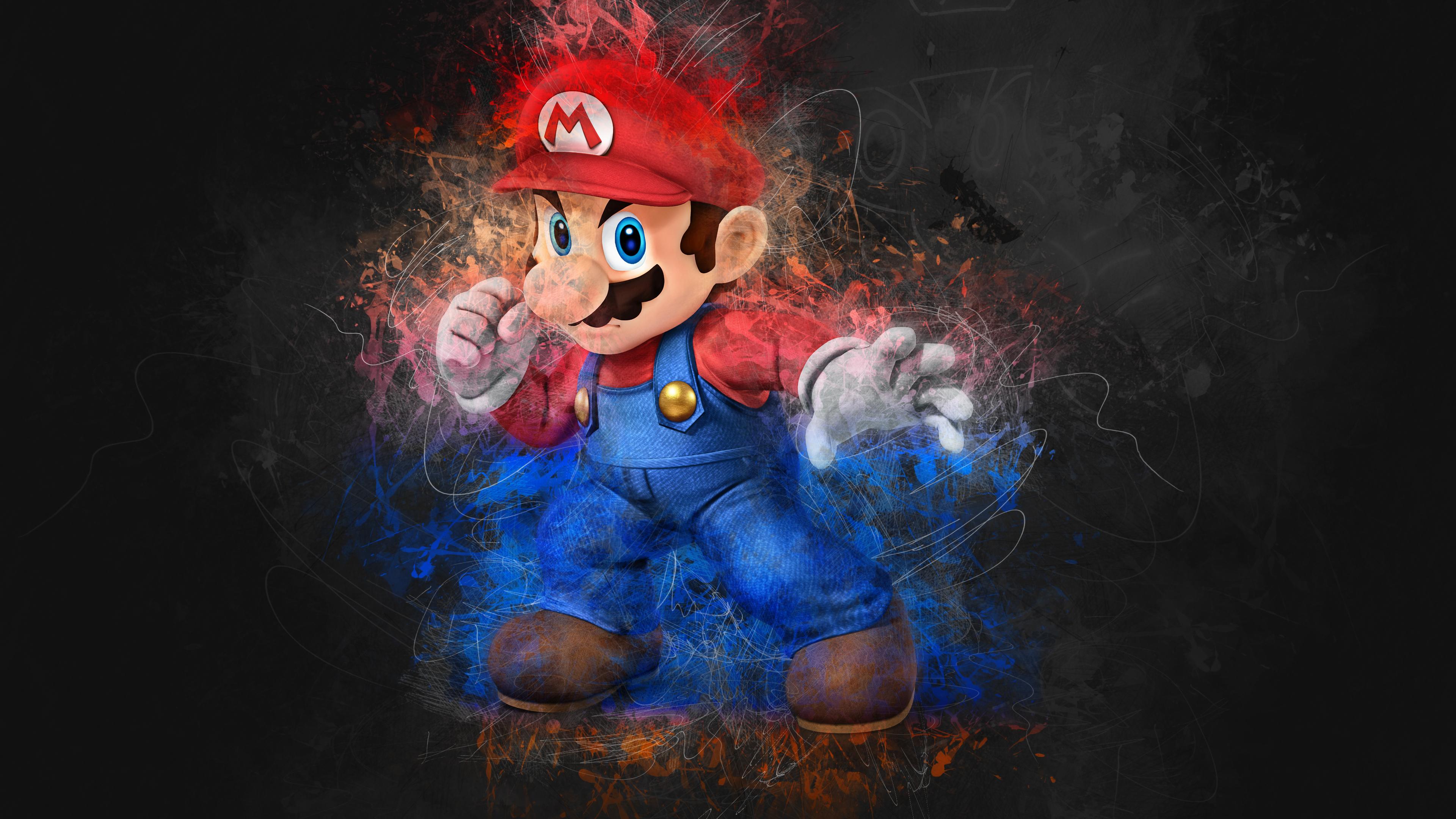 Mario Artwork 4k Hd Games 4k Wallpapers Images