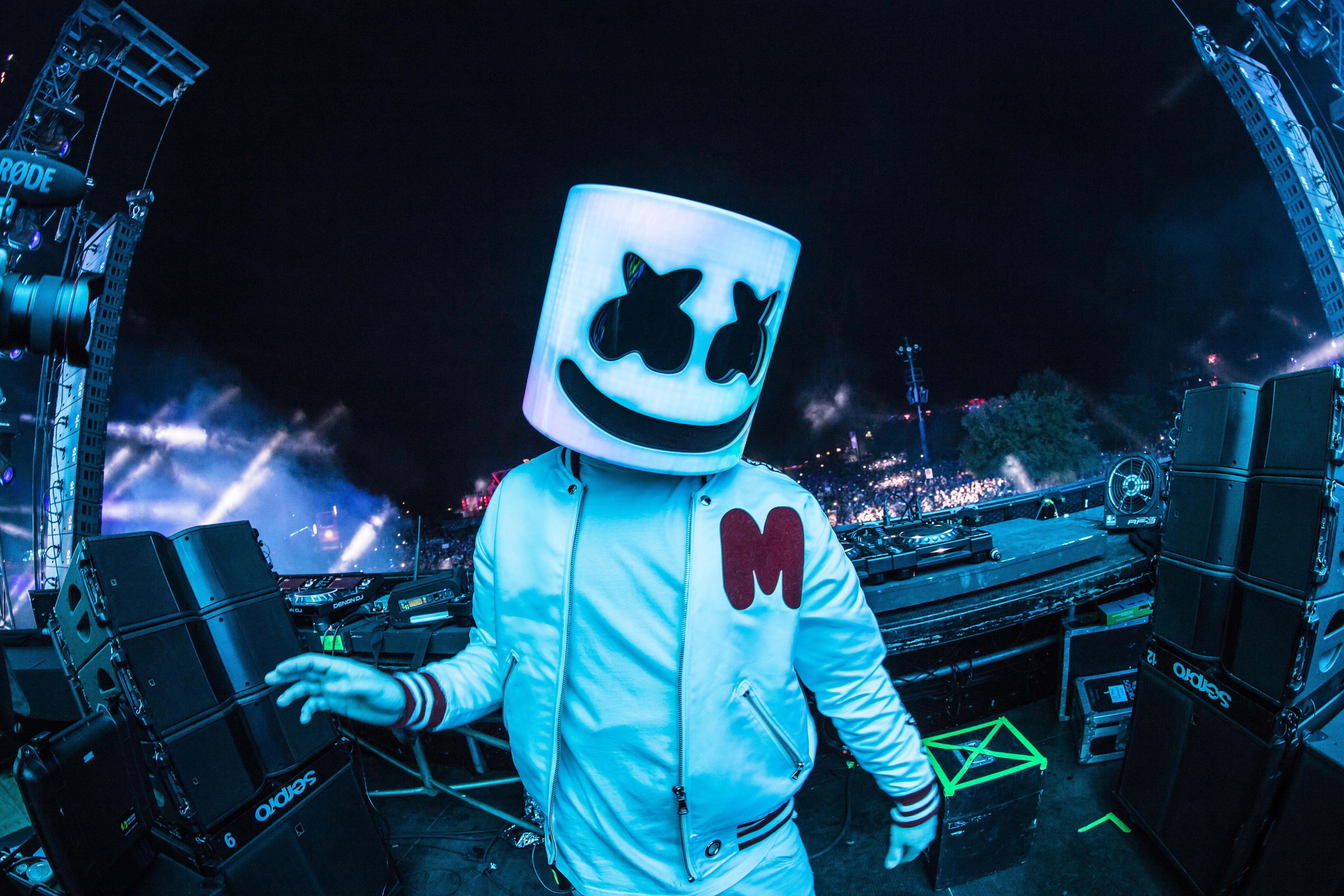 Marshmello 2018 On Stage Live Dj 5k, HD Music, 4k