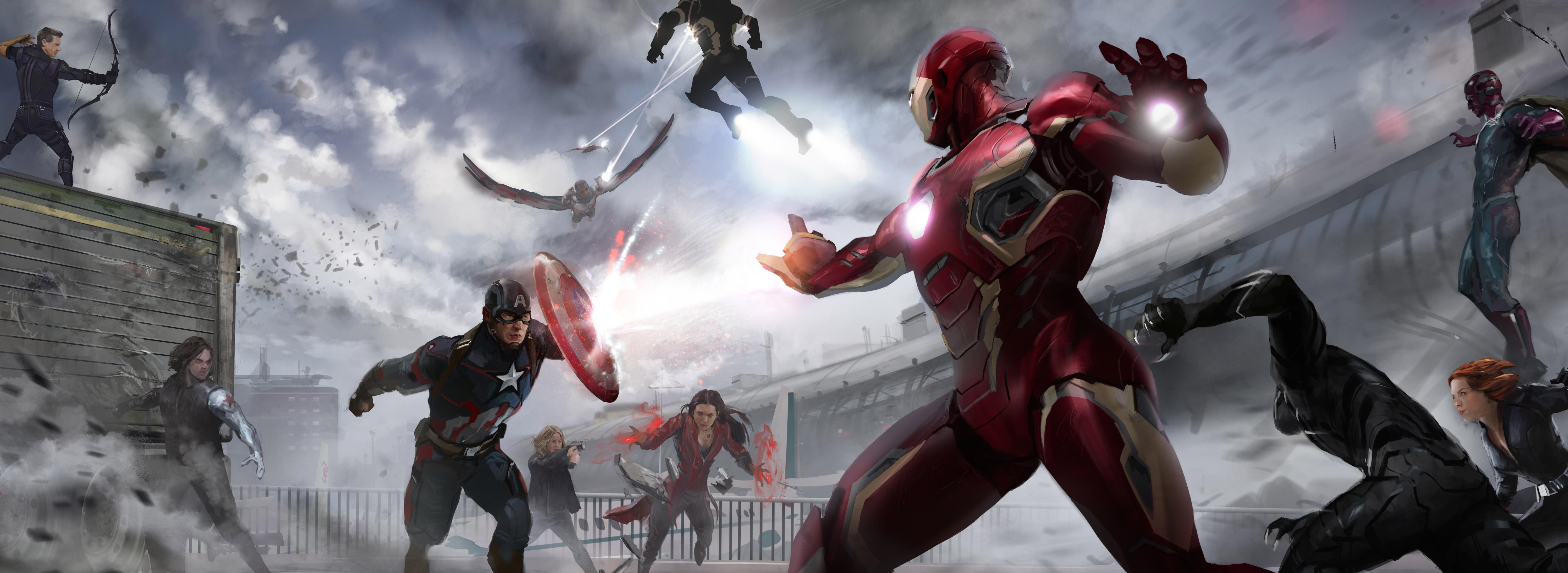 Marvel Civil War Artwork