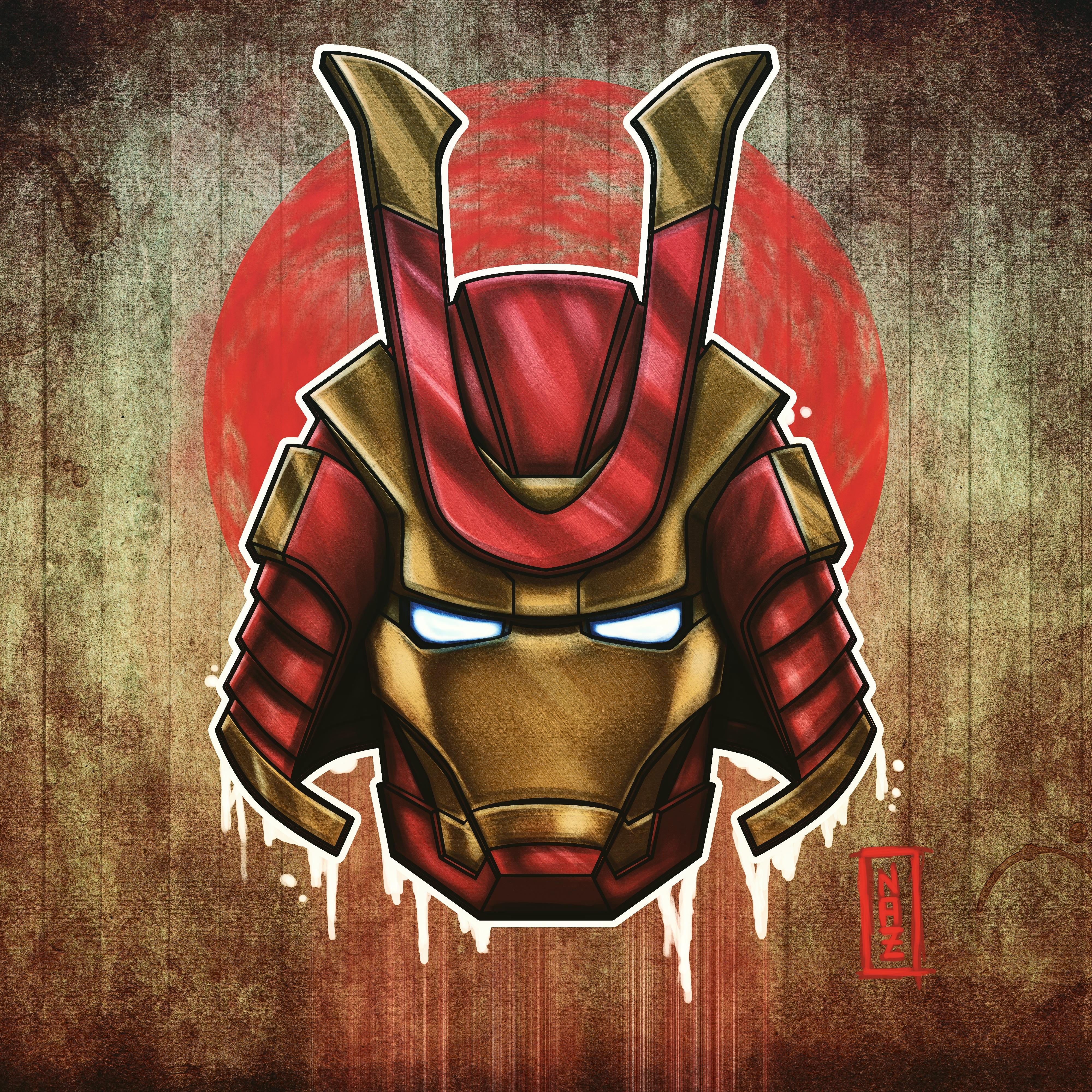 Marvel Samurai Iron Man, HD Superheroes, 4k Wallpapers