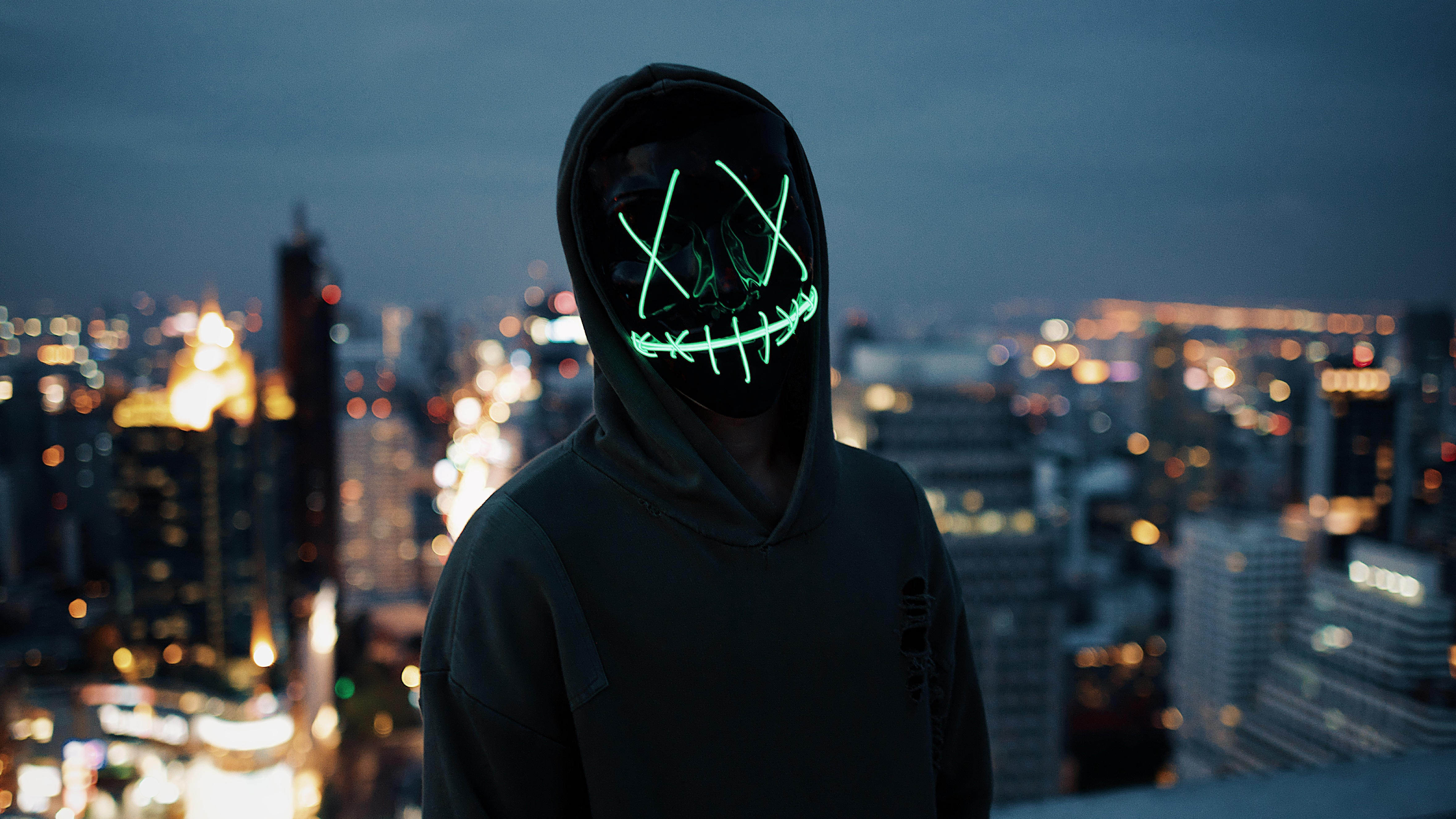 Mask Guy Neon 5k, HD Photography, 4k Wallpapers, Images ...