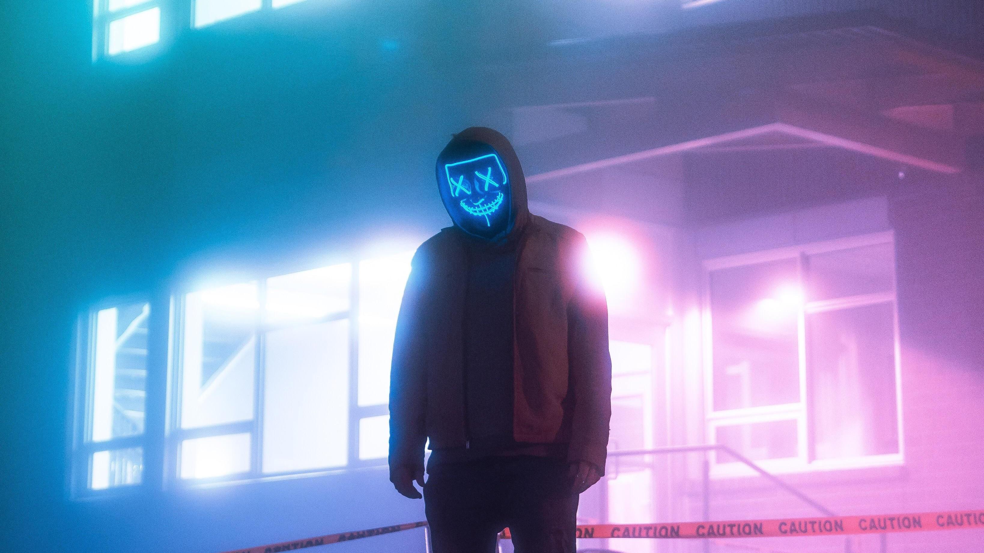 Ideas For 4k Ultra Hd Neon Mask Wallpaper 4k Images