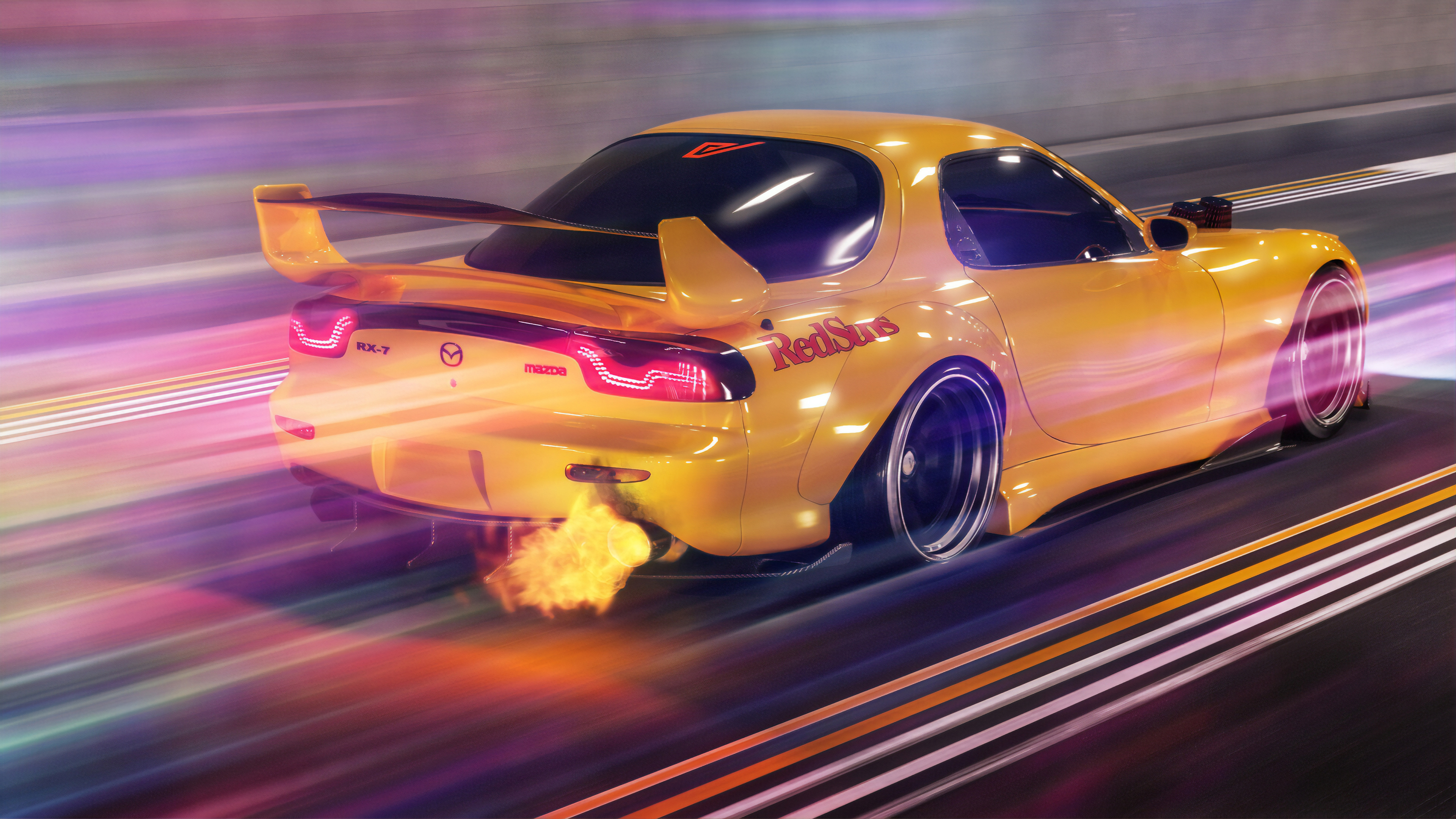 Mazda Rx7 Flaming Out Hd Cars 4k Wallpapers Images
