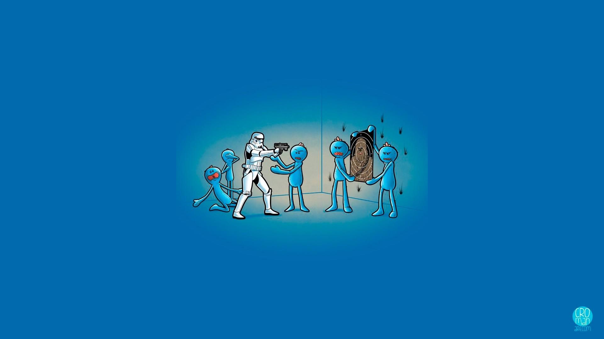 Meeseeks Vs Stormtrooper