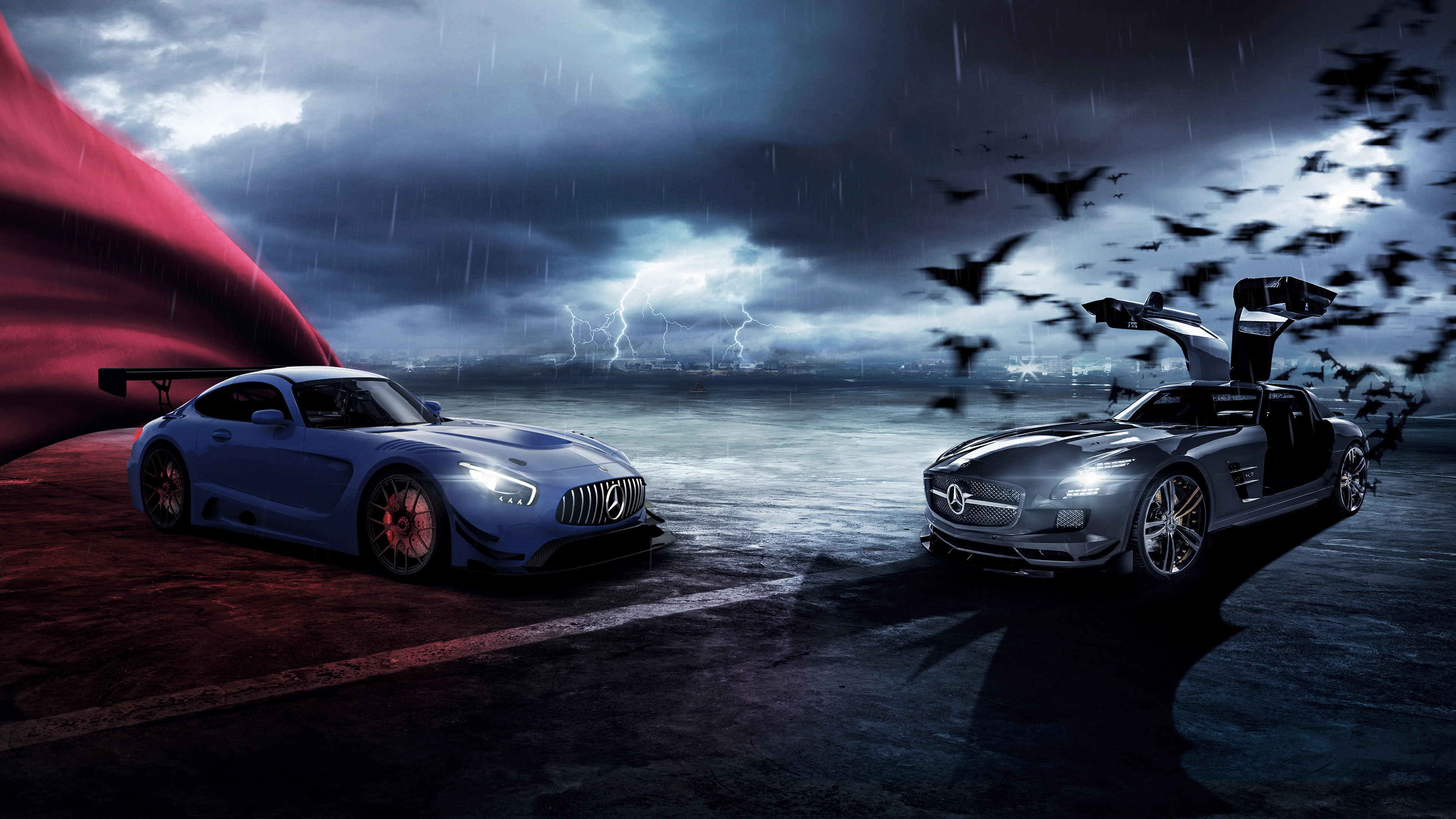 Mercedes Amg Gt Superman And Batman Hd Cars 4k Wallpapers Images