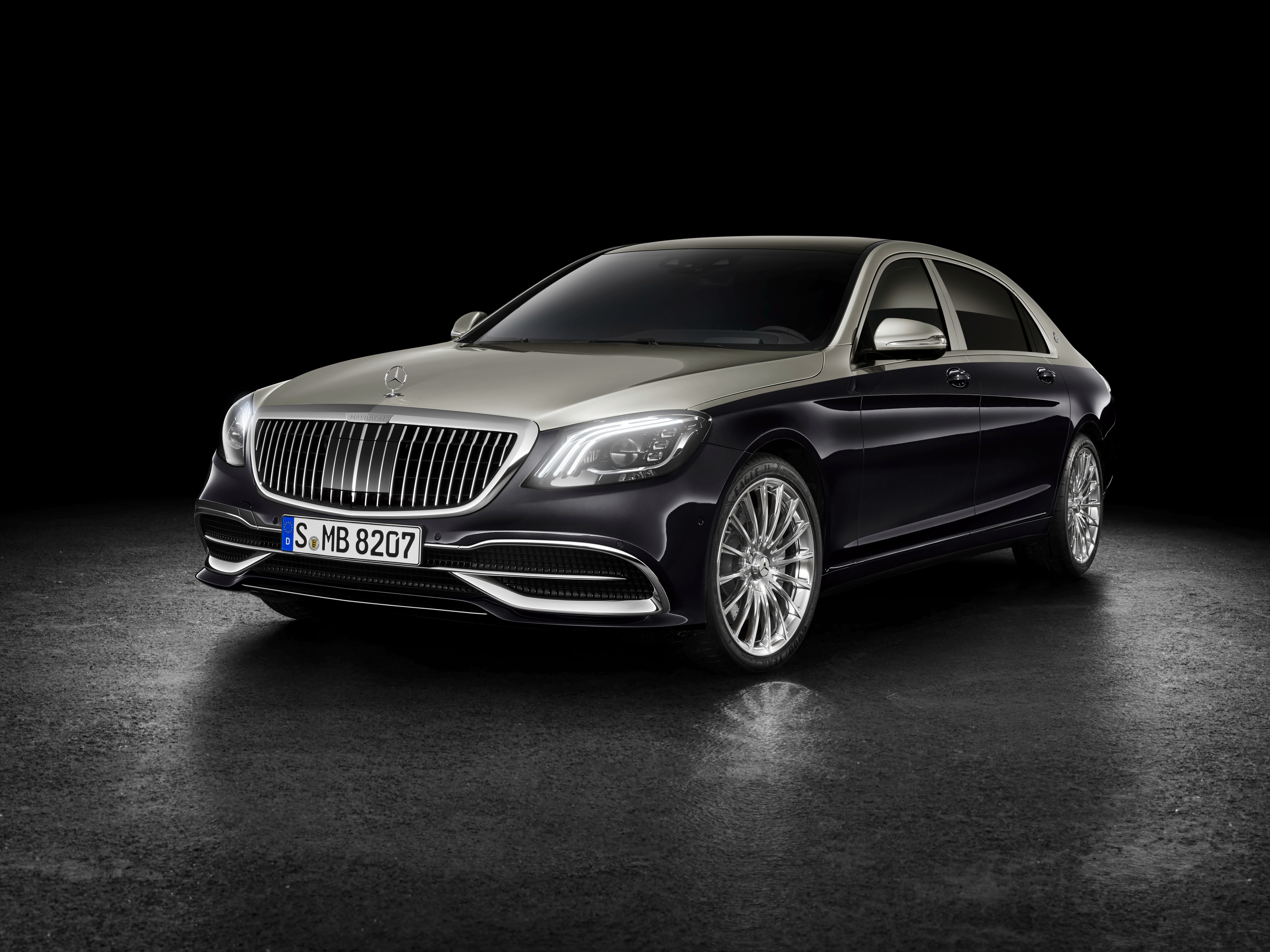 mercedes benz maybach s 560 2018 front, hd cars, 4k wallpapers