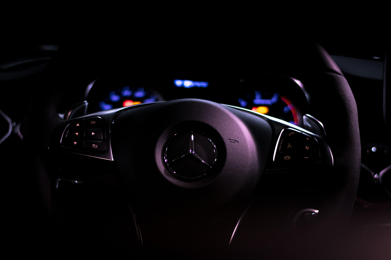 Mercedes Car Steering Full HD