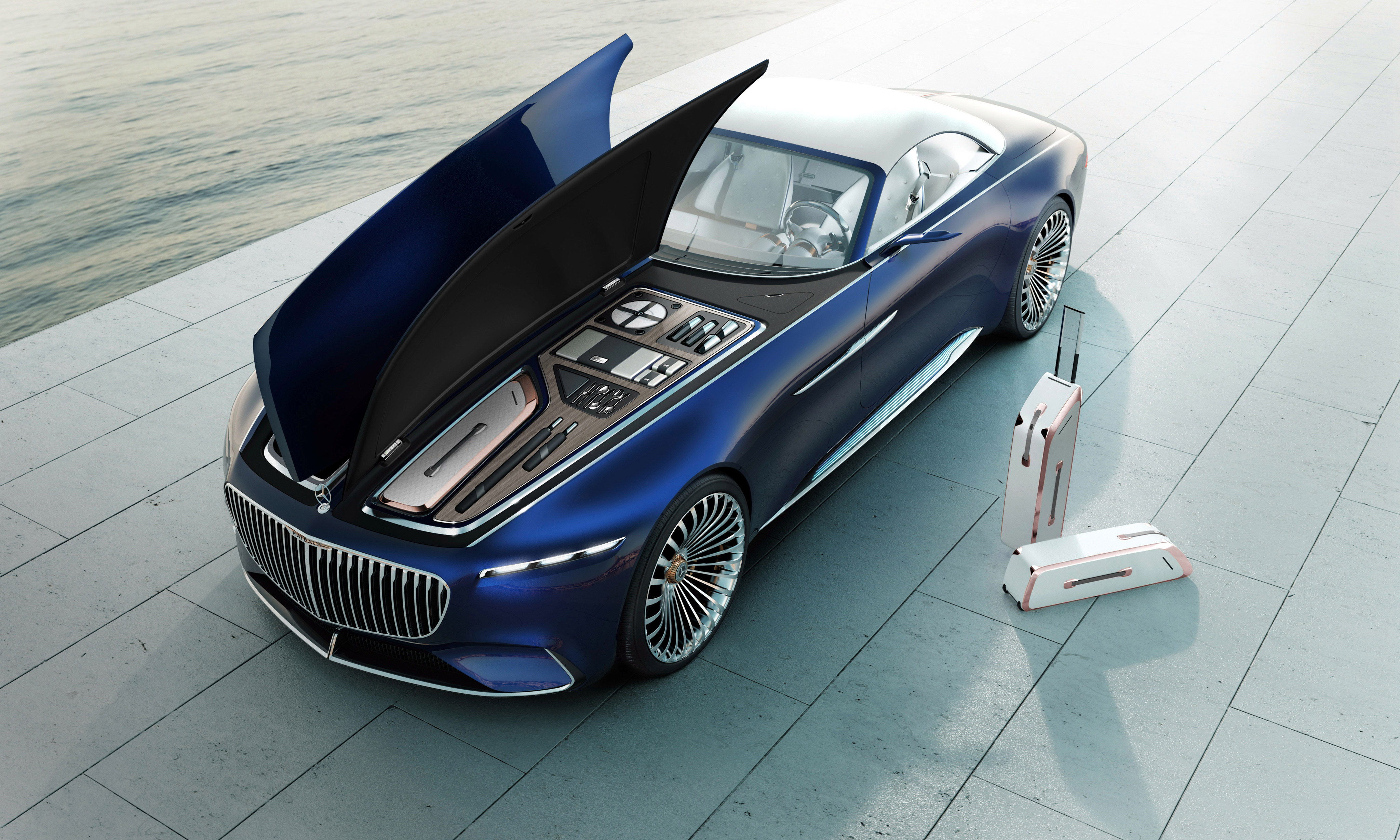 mercedes maybach 6 cabriolet 2017, hd cars, 4k wallpapers, images