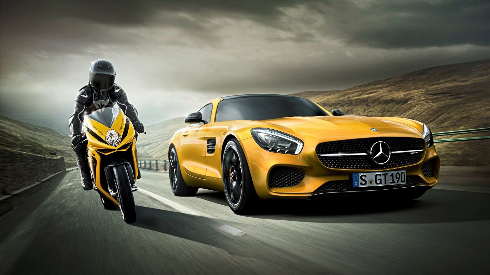 Mercedes Vs Motorcycle Hd Cars 4k Wallpapers Images