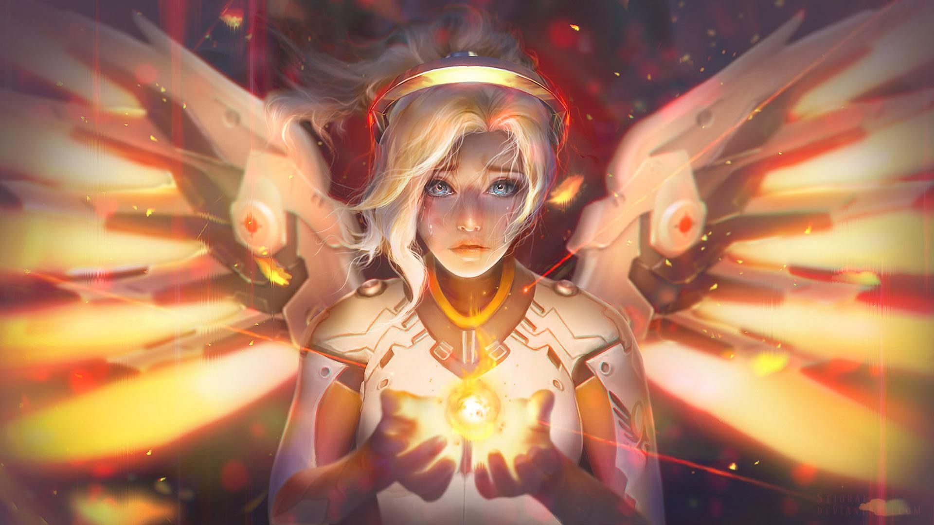 Mercy Angel Overwatch Fantasy, HD Games, 4k Wallpapers ...