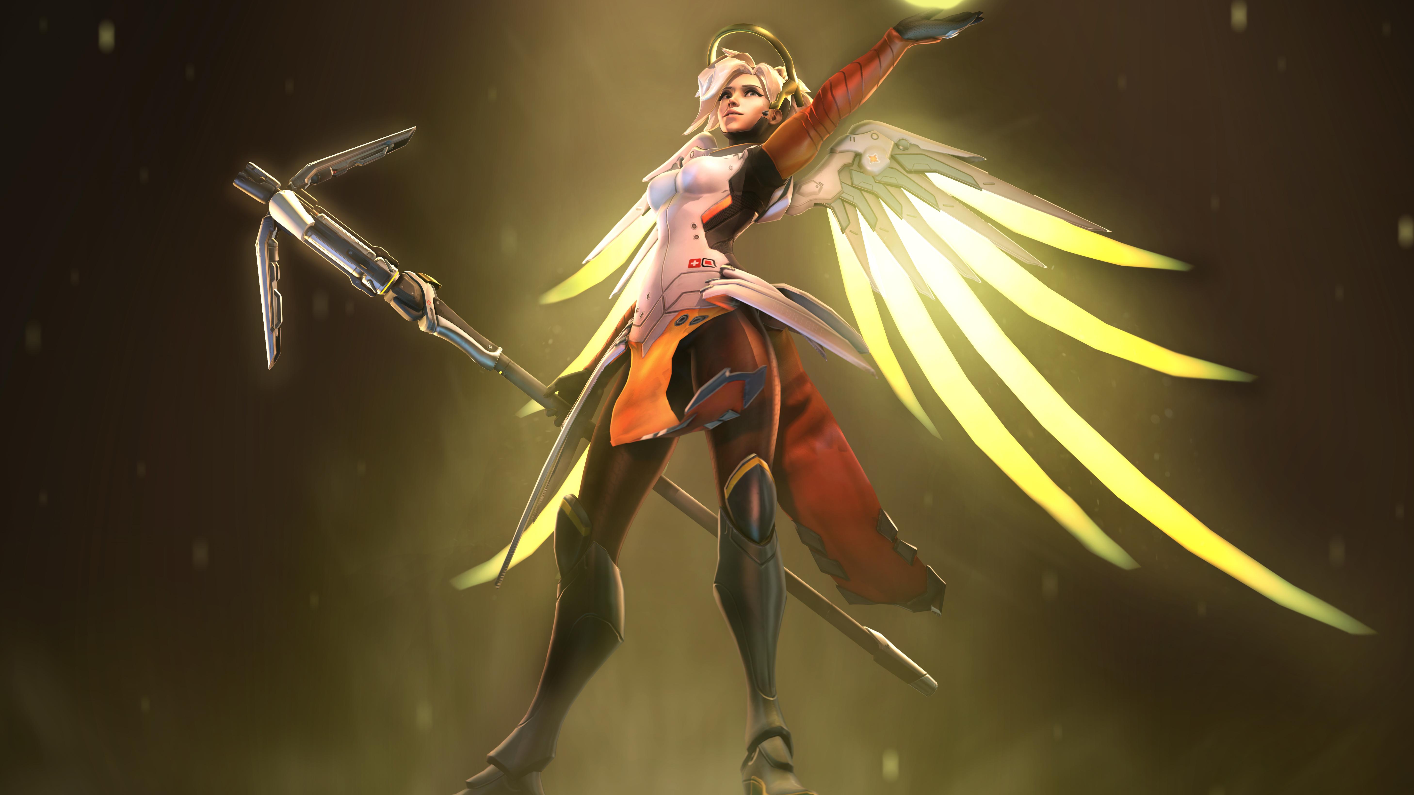 Mercy Overwatch Fanart 5k, HD Games, 4k Wallpapers, Images ...