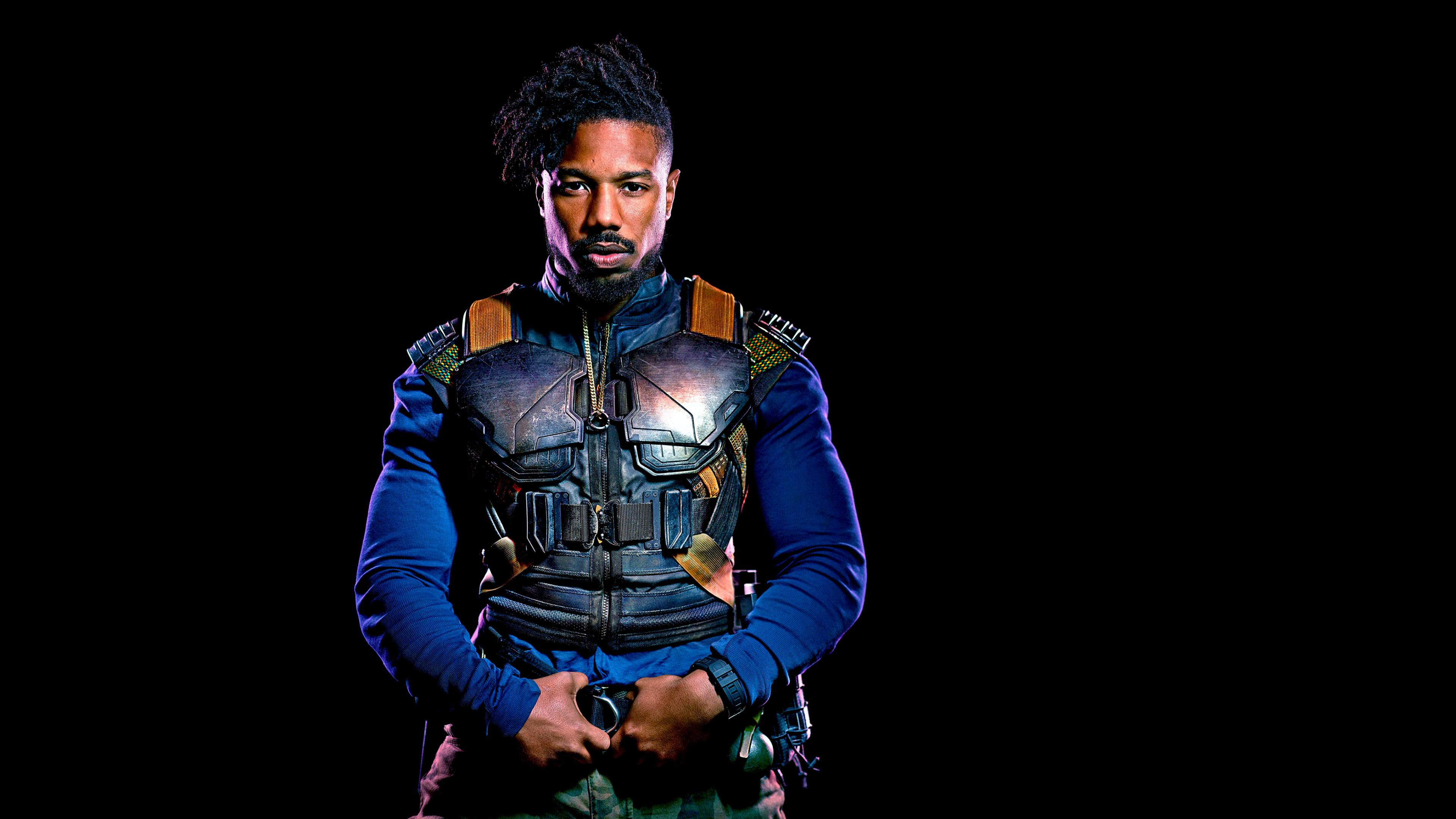 Michael B Jordan As Erik Killmonger In Black Panther 2018 Hd Movies