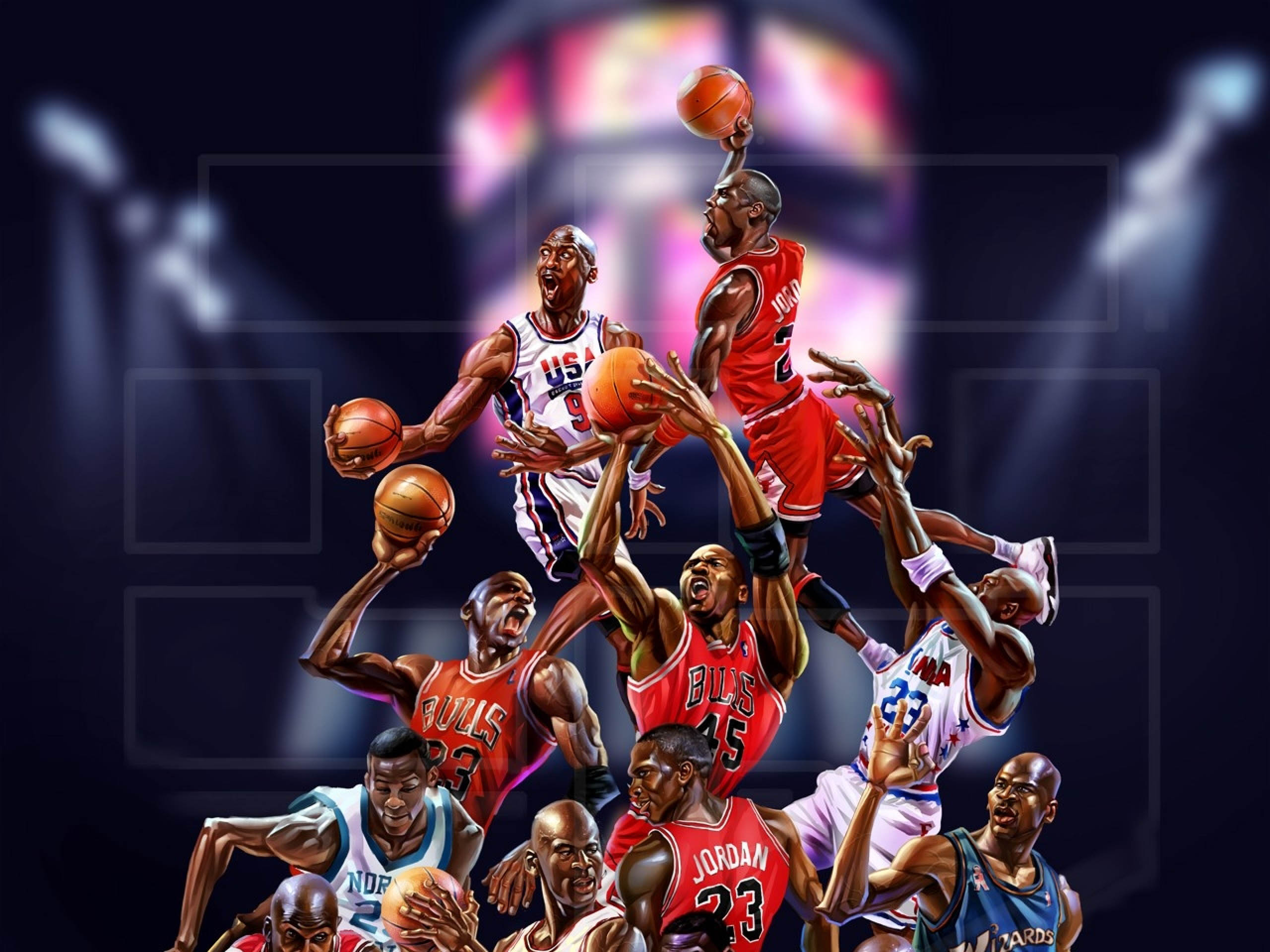 Michael Jordan 50th Wallpaper: Michael Jordan Art, HD Sports, 4k Wallpapers, Images