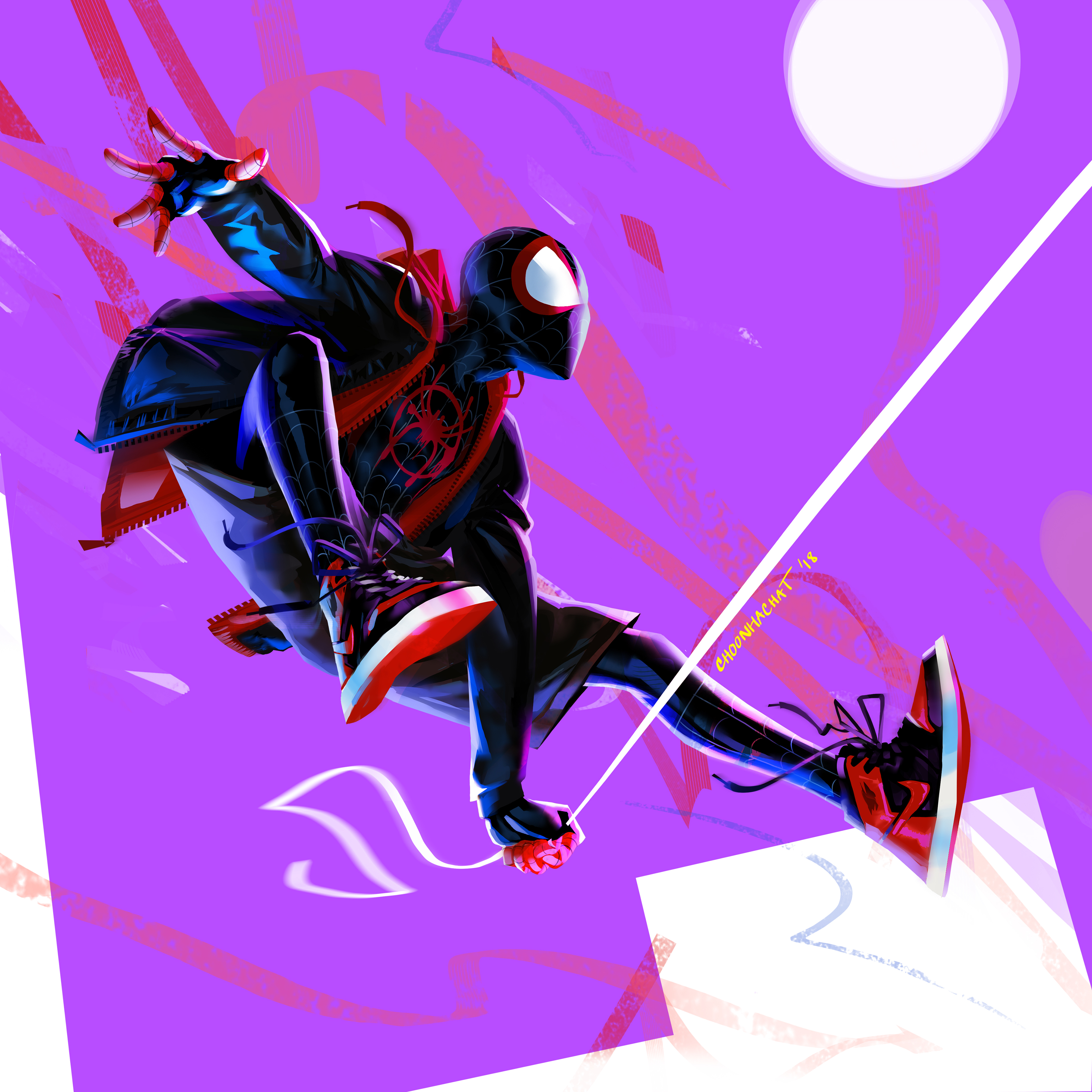 Miles Morales In Spider Man Into The Spider Verse 4k