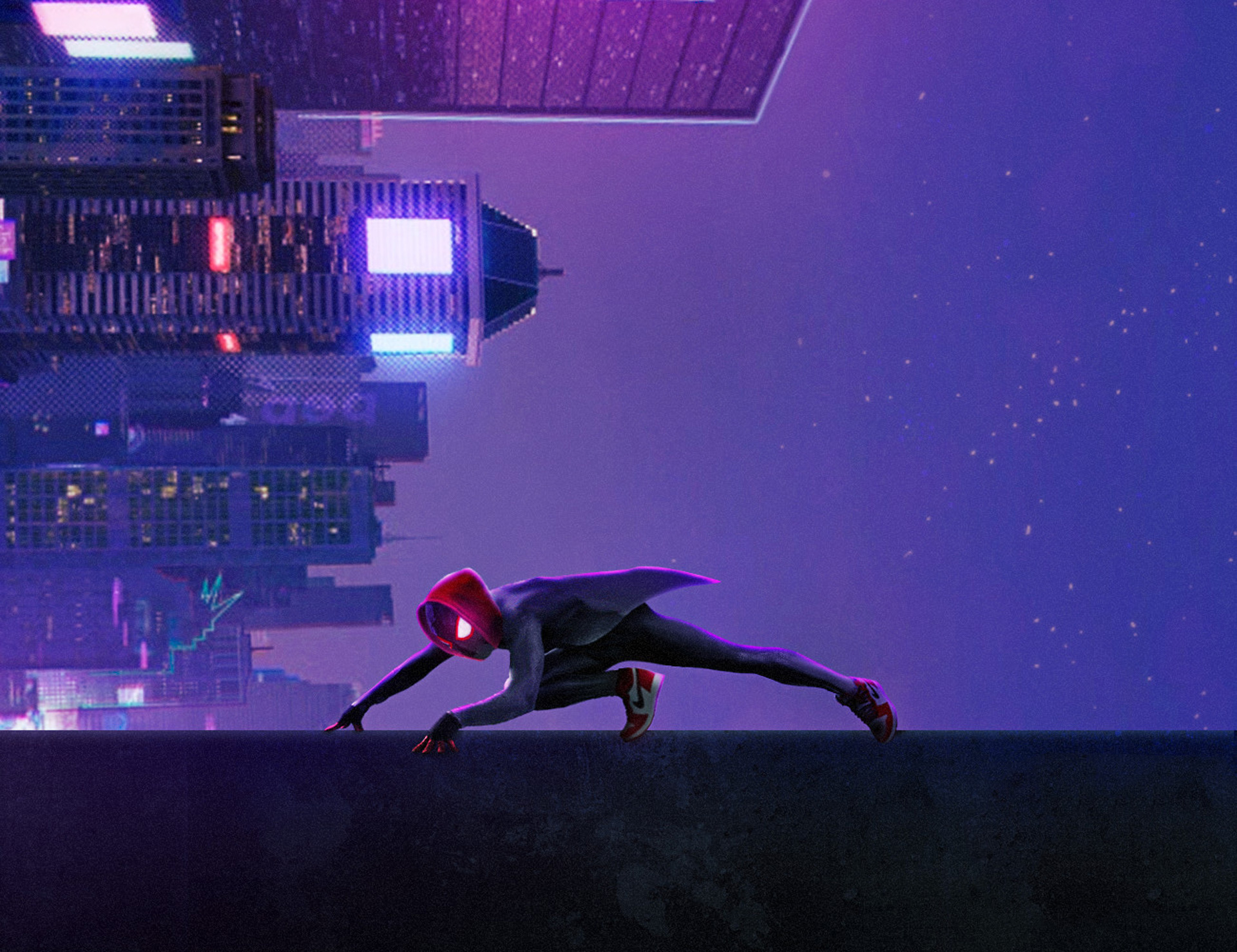 Miles Morales In Spider Man Into The Spider Verse Movie Art Hd
