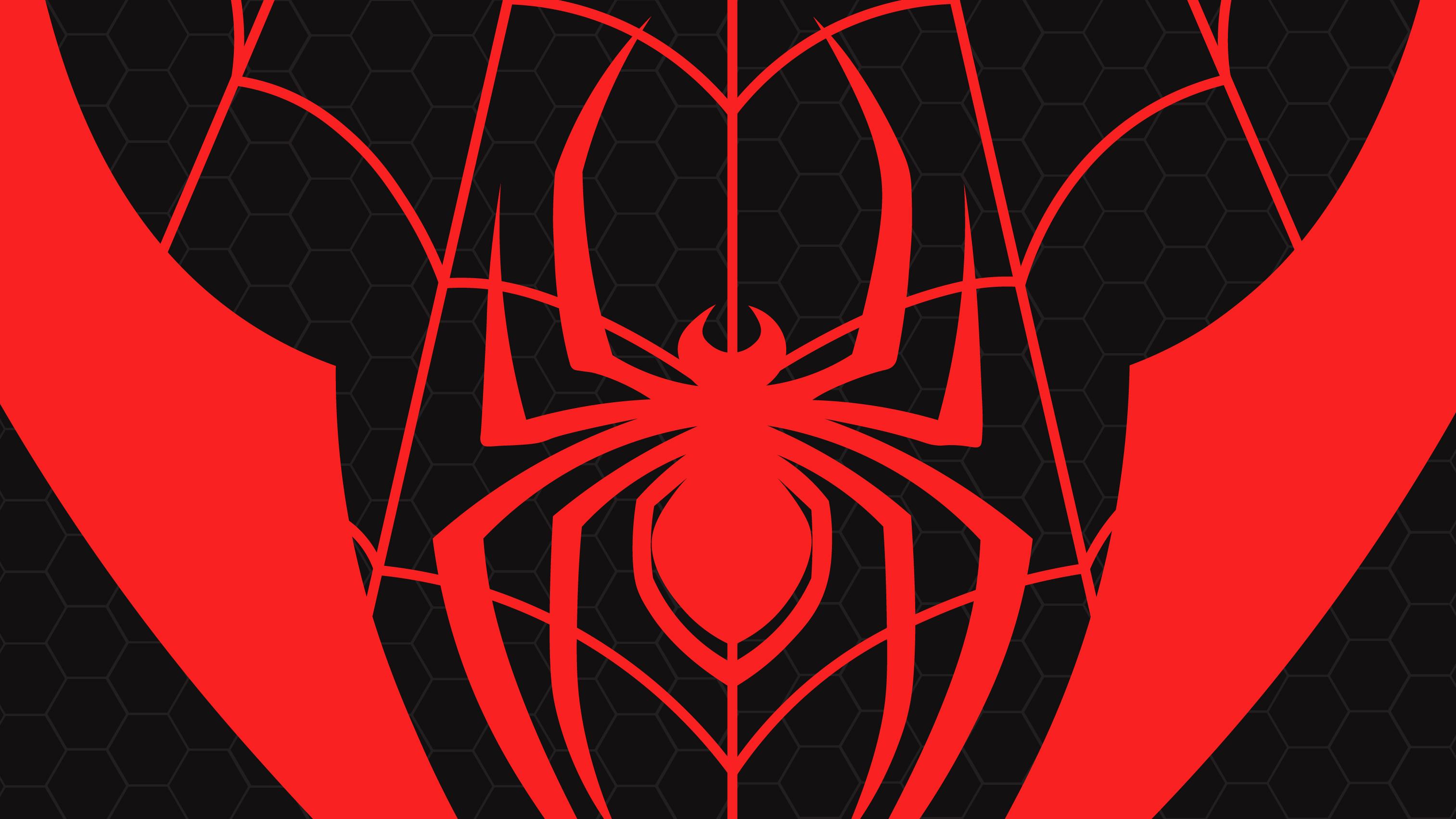 1366x768 Miles Morales Spiderman Logo 1366x768 Resolution Hd