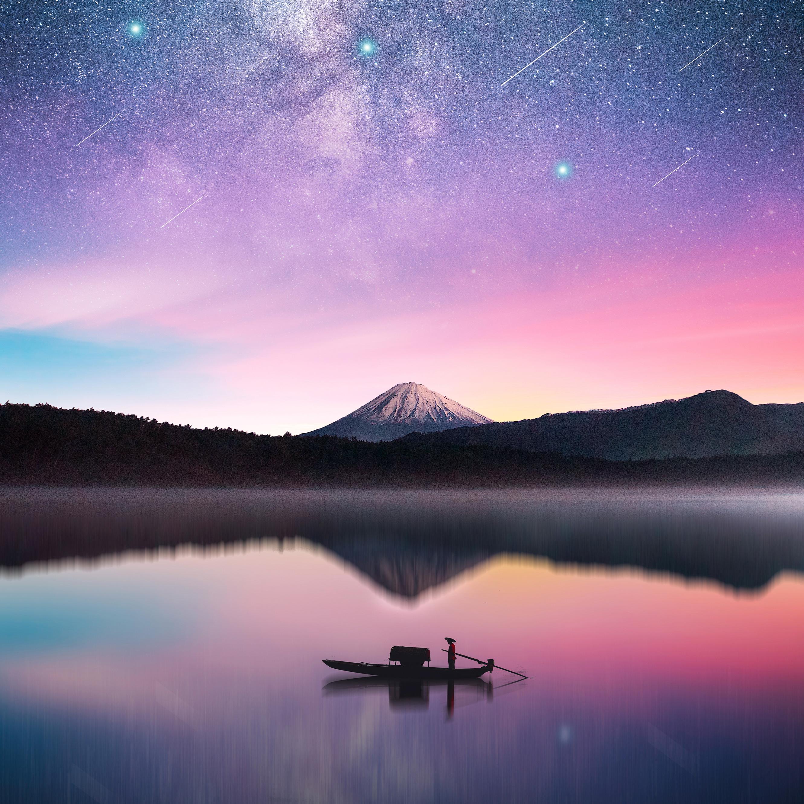 4k Resolution Wallpaper: 3840x2160 Milky Way Mount Fuji 4k HD 4k Wallpapers, Images