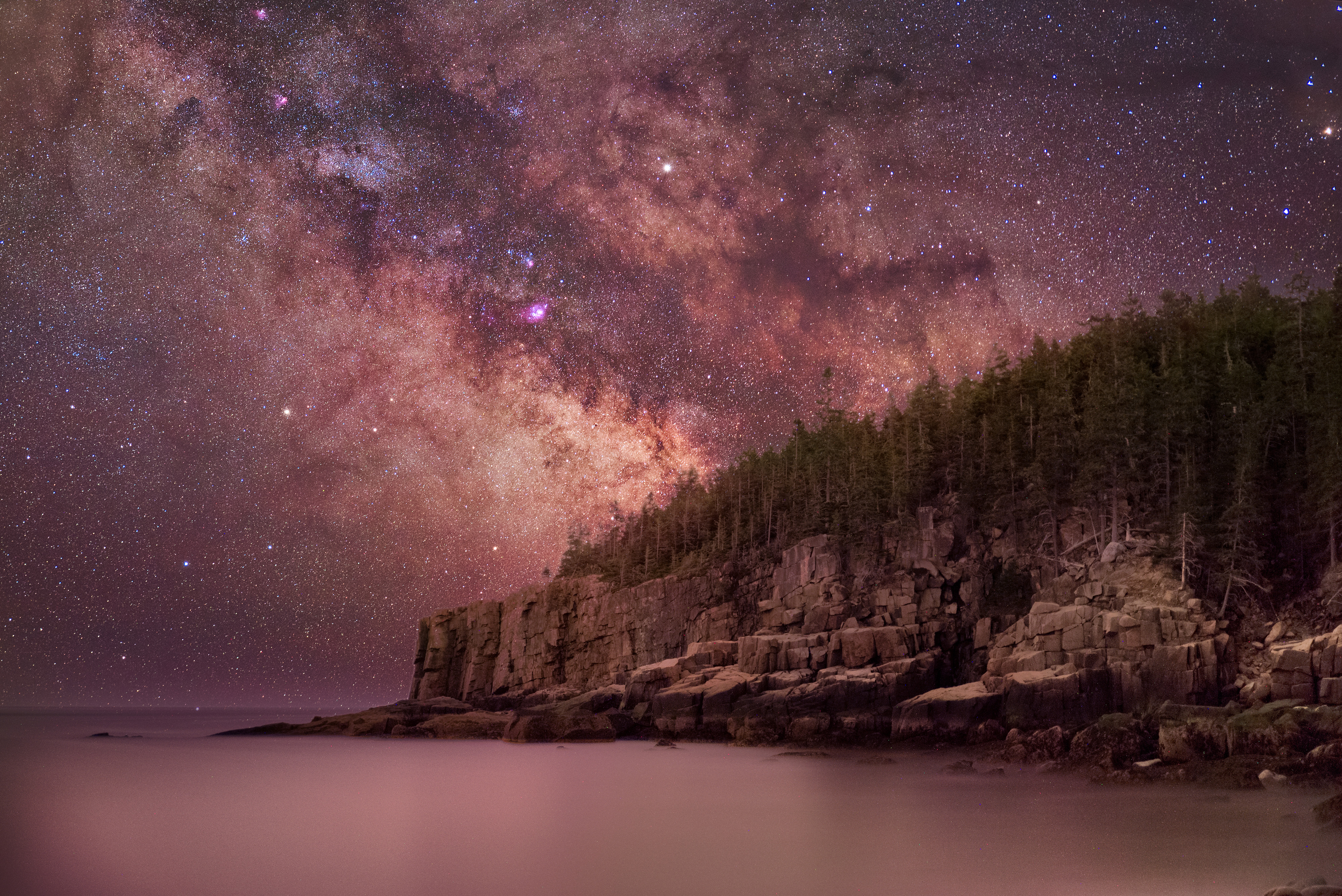 Milky Way Over Otter Cliffs 4k, HD Nature, 4k Wallpapers