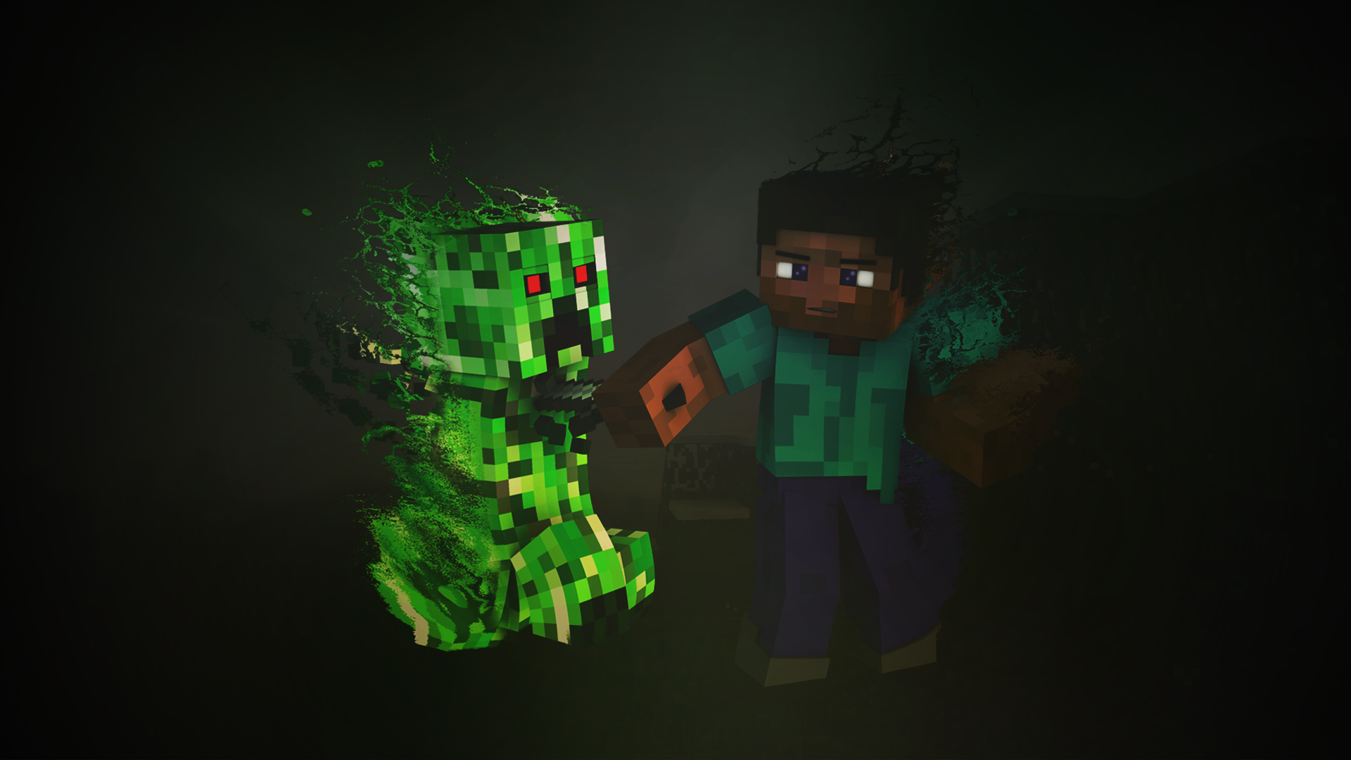 minecraft creeper hd games 4k wallpapers images