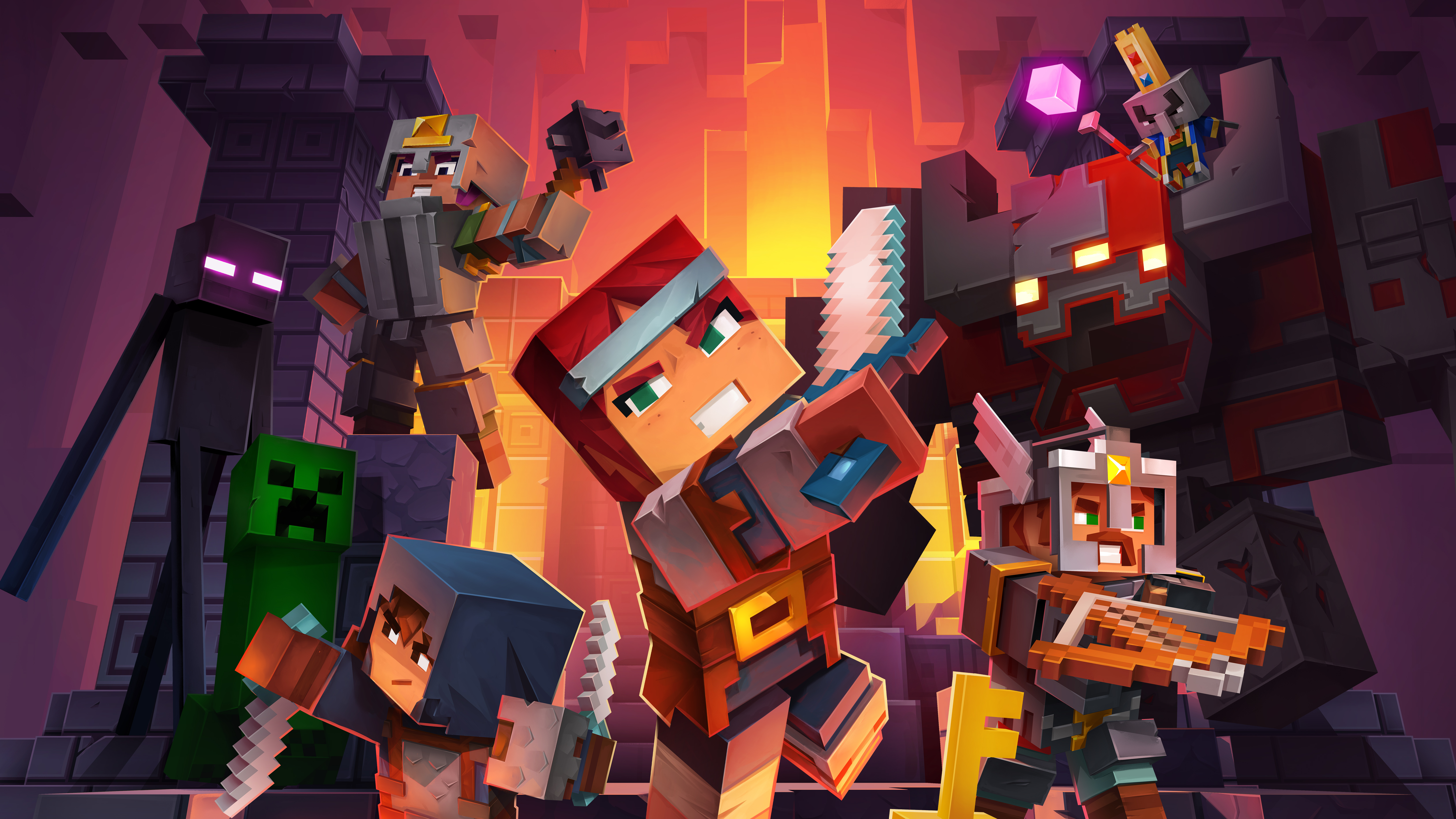 Minecraft Dungeons 5k, HD Games, 4k Wallpapers, Images ...