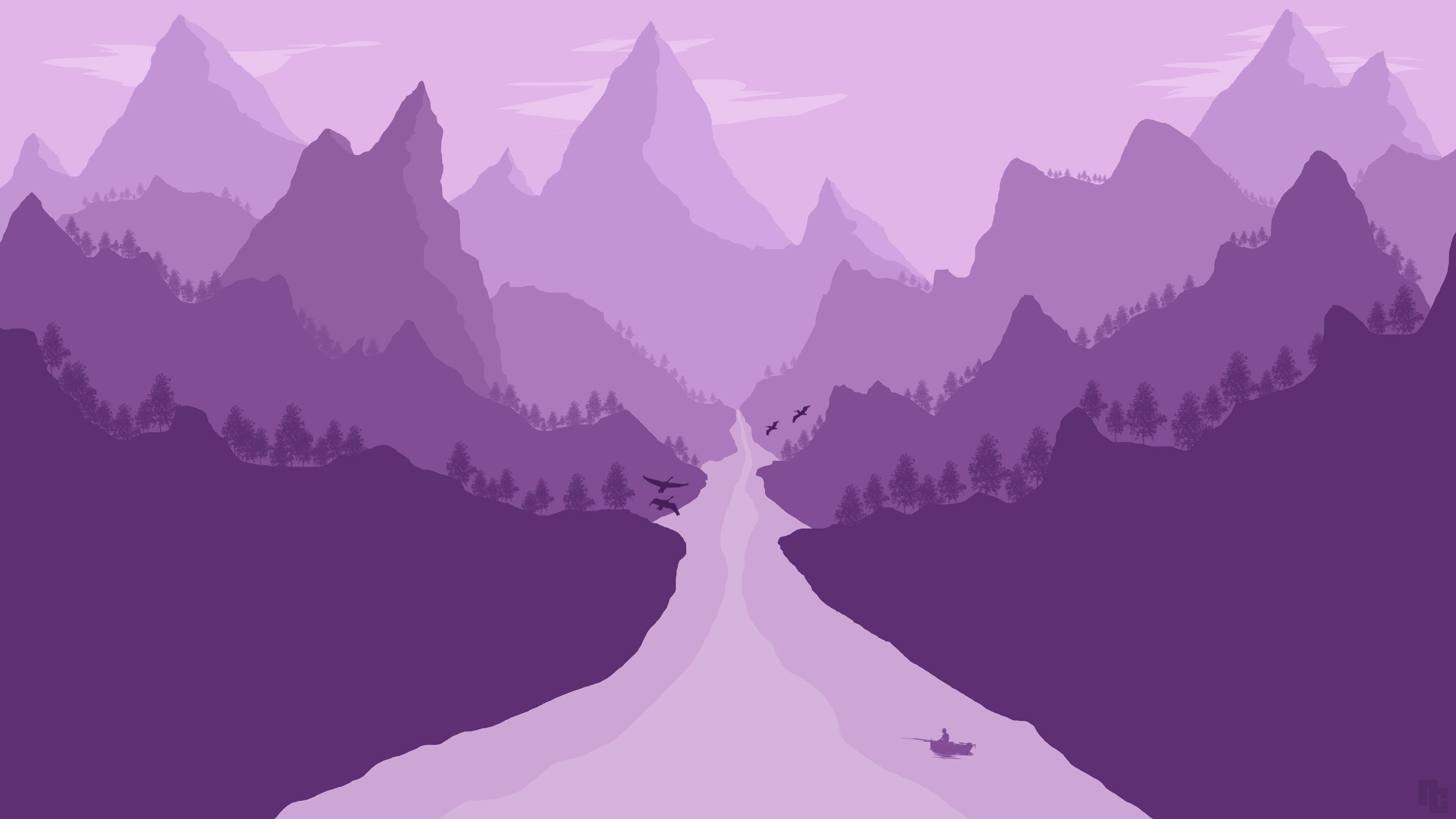 Minimalism Mountain Peak Full Hd Wallpaper: 2560x1440 Minimalism Landscape 1440P Resolution HD 4k