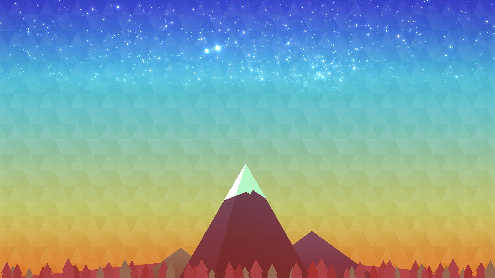 Minimalism Mountain Peak, HD Artist, 4k Wallpapers, Images ...