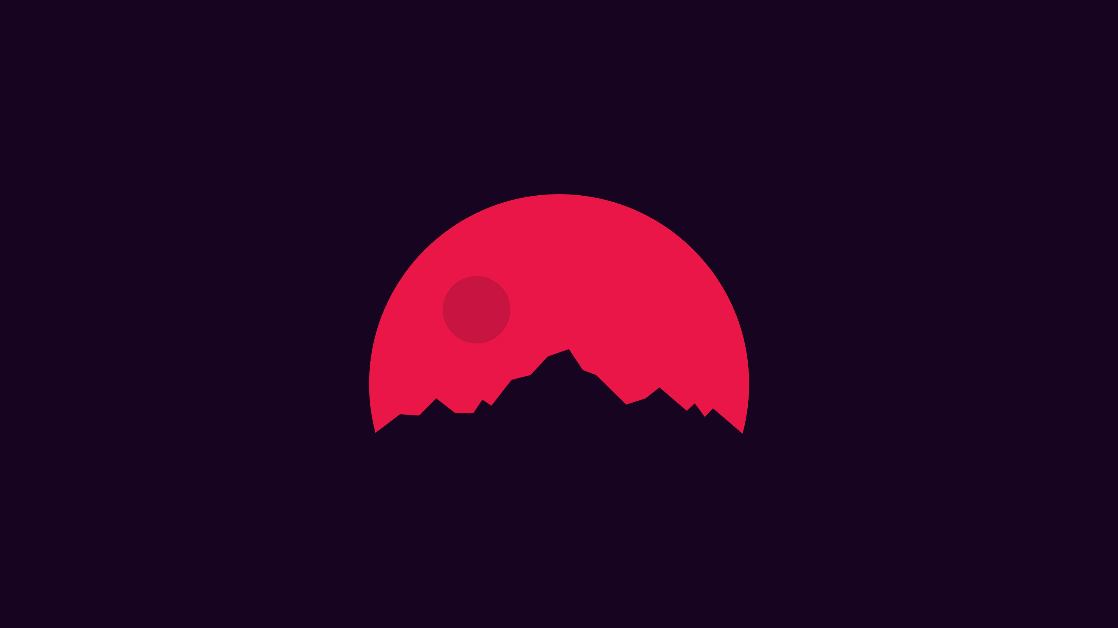 Minimalism mountains red hd artist 4k wallpapers images for A minimalist