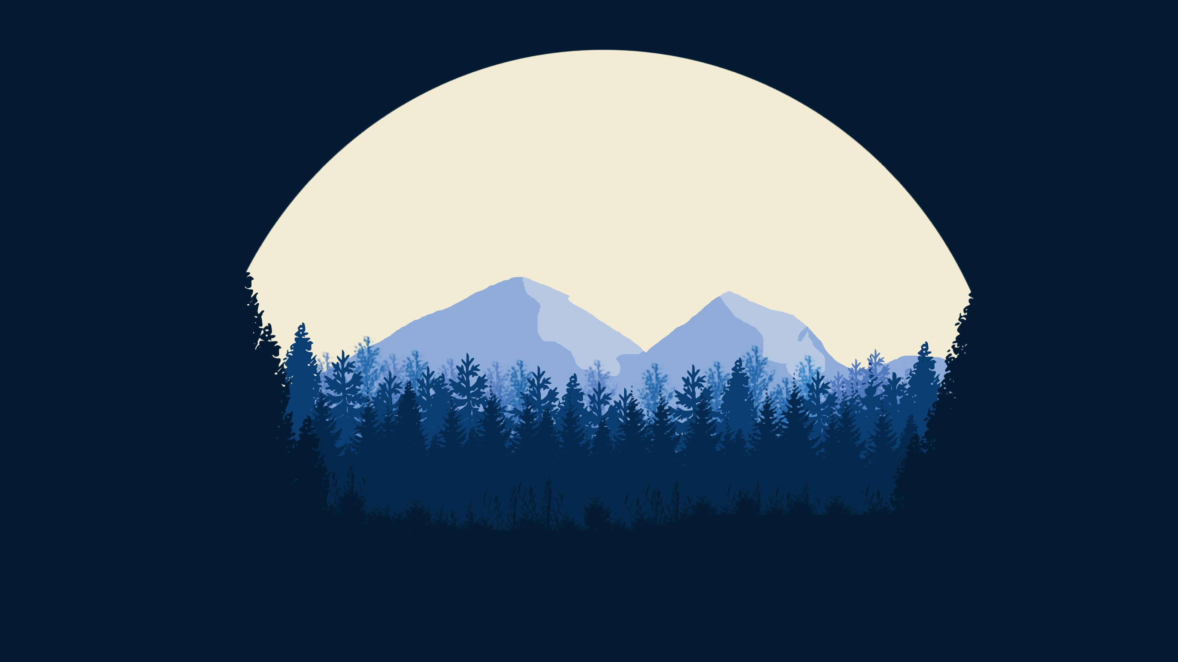 Recovery Mountain Minimalist 4k Hd Desktop Wallpaper For: Minimalist Mountains, HD Artist, 4k Wallpapers, Images