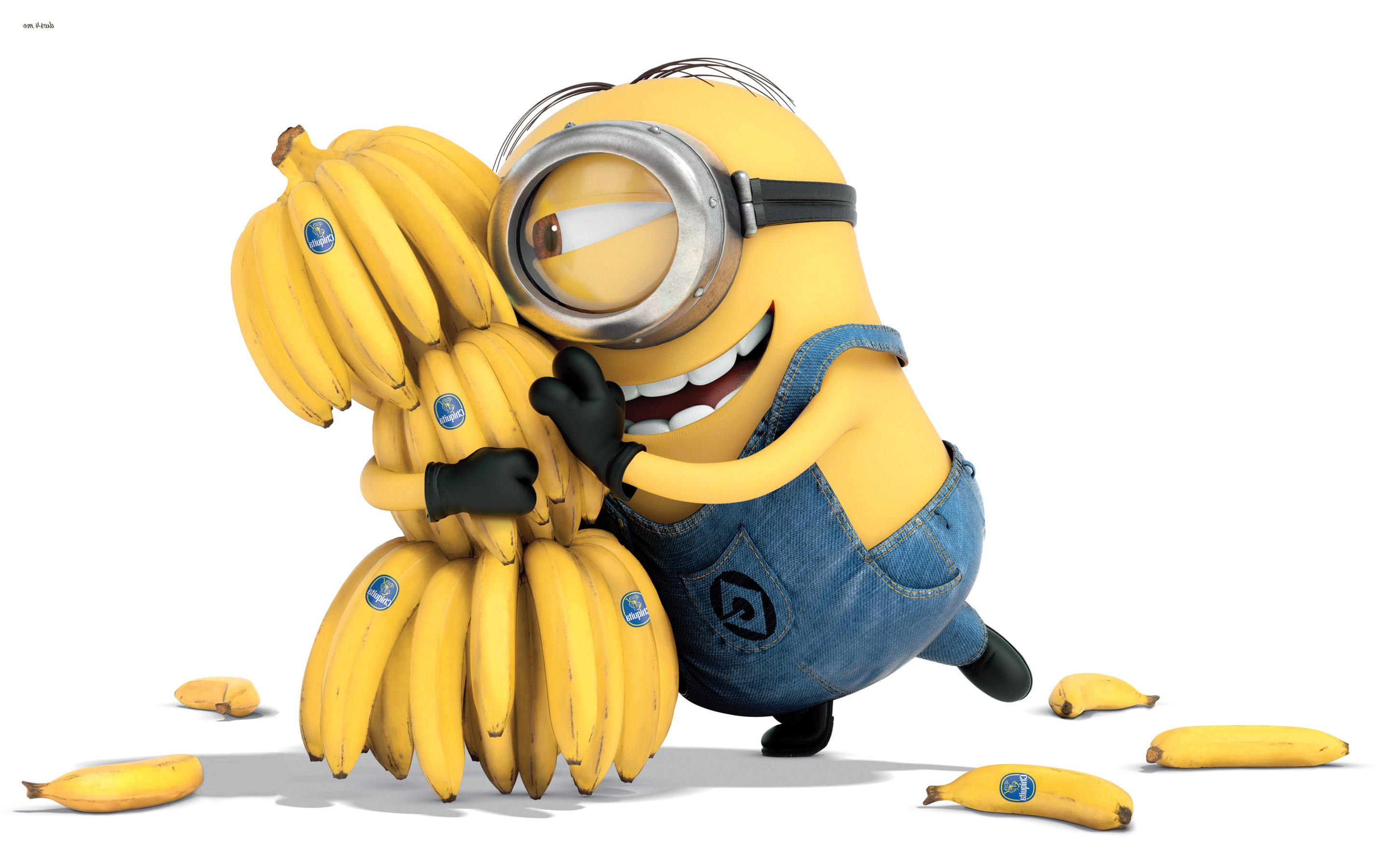 minion bananas, hd cartoons, 4k wallpapers, images, backgrounds