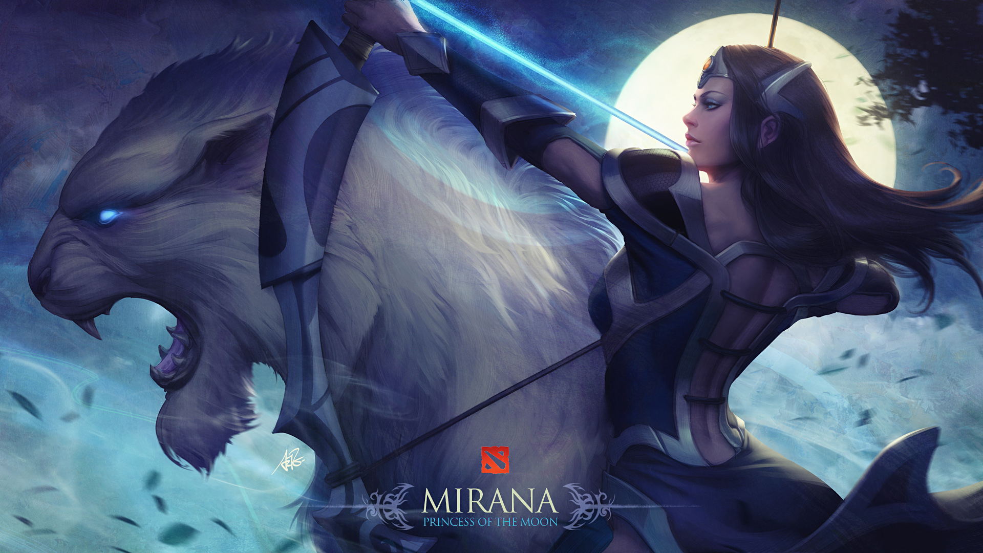 Mirana Dota 2 Artwork Hd Celebrities 4k Wallpapers Images