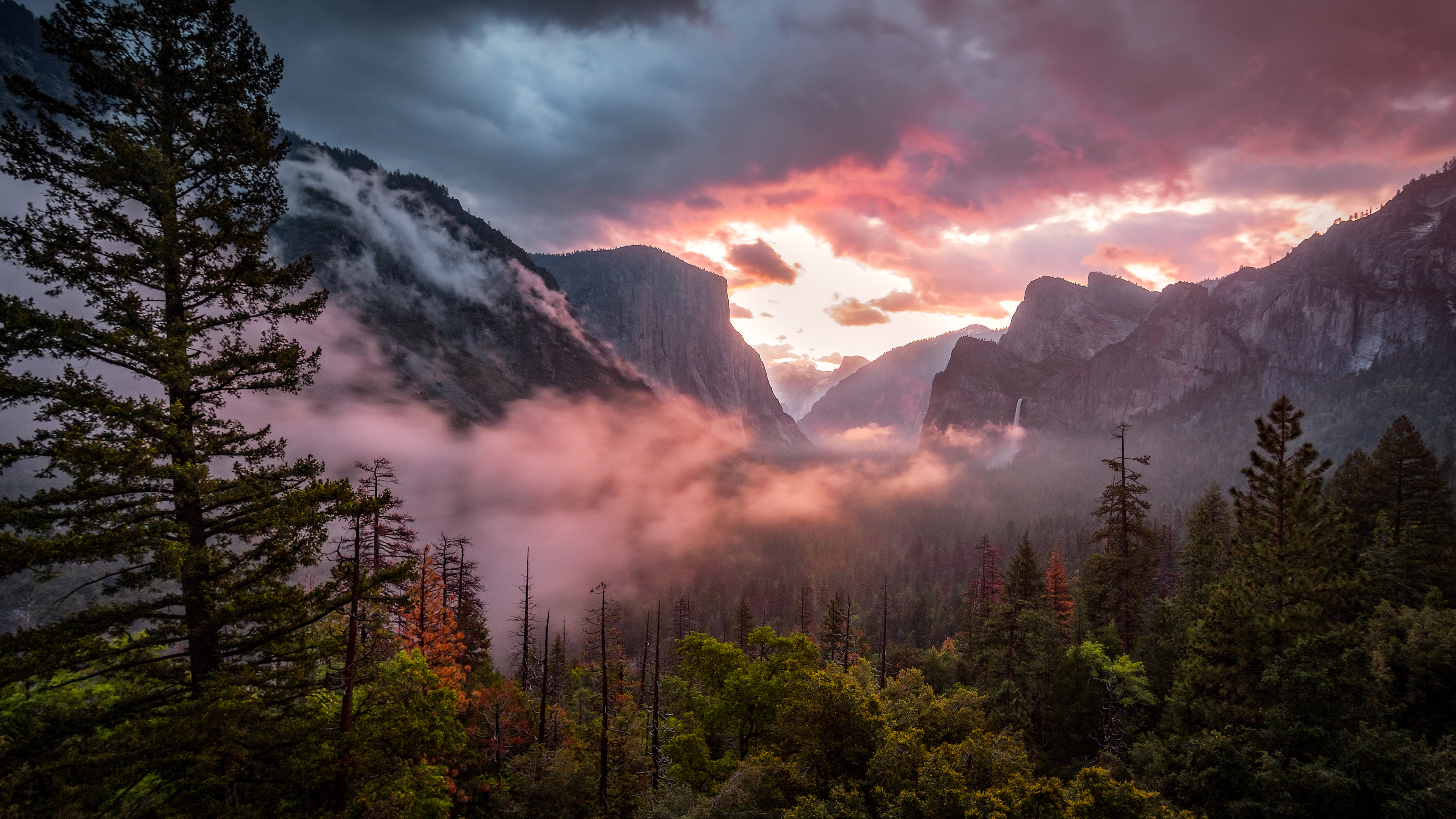 Misty yosemite hd nature 4k wallpapers images - Yosemite national park hd wallpaper ...