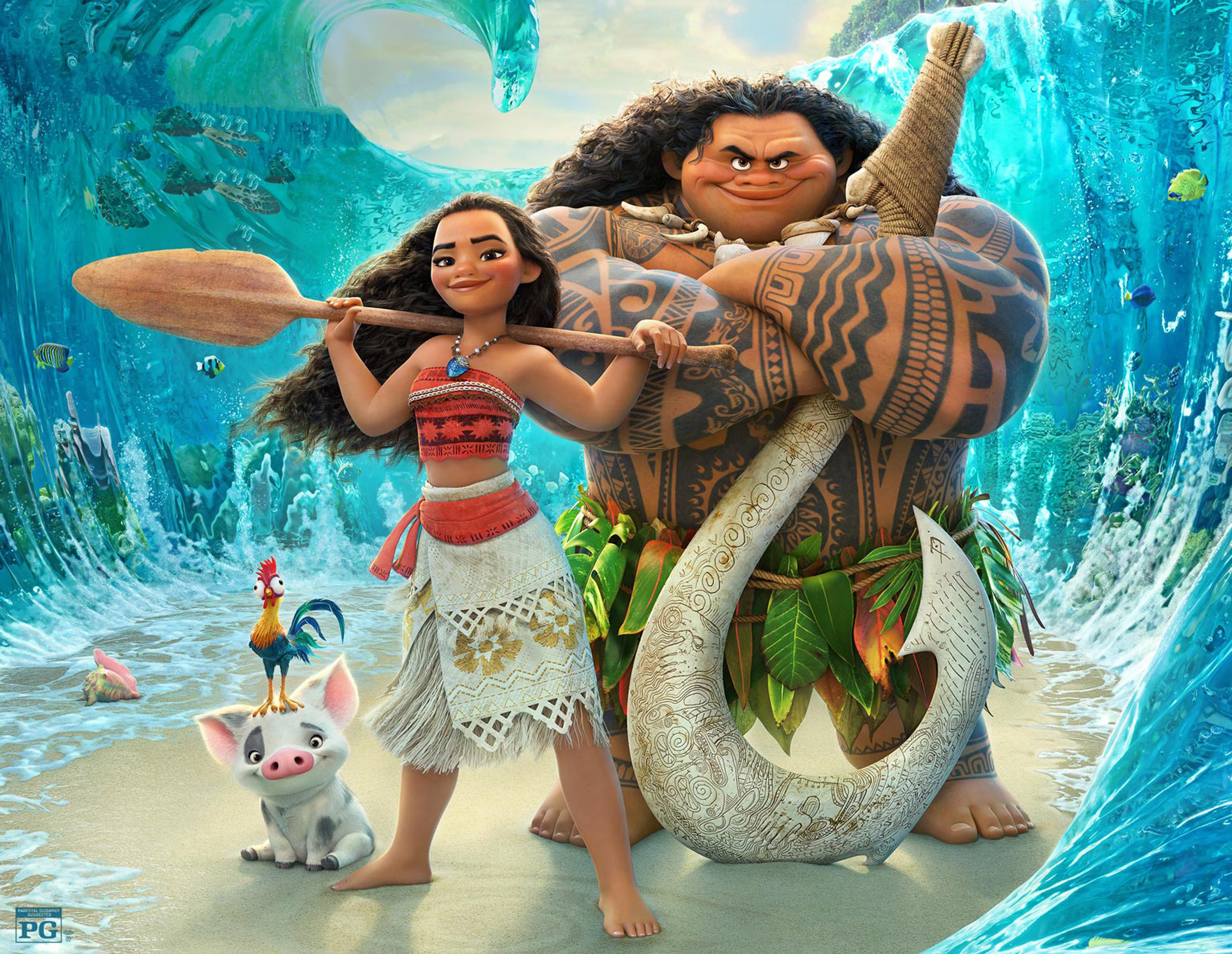 Moana 2016 Movie, HD Movies, 4k Wallpapers, Images ... Pictures Of Moana Characters