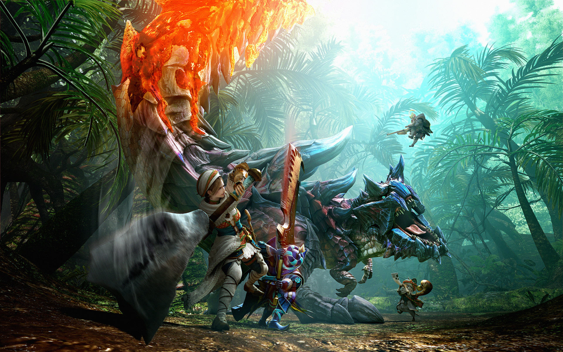 Monster Hunter World 4k Wallpaper: Monster Hunter Generations Key Art, HD Games, 4k