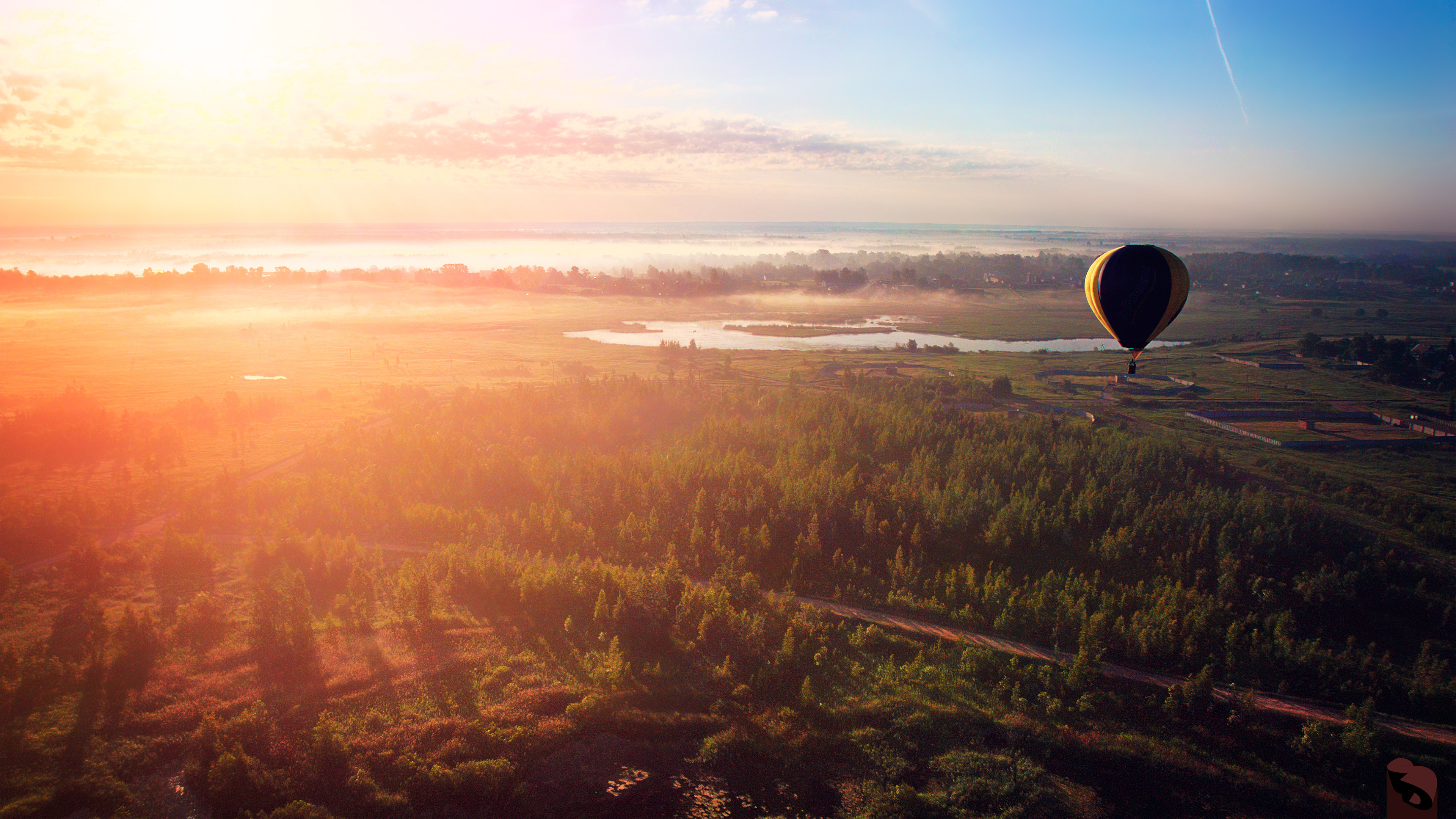 Morning flight hot air balloon hd nature 4k wallpapers images backgrounds photos and pictures - Air wallpaper hd ...