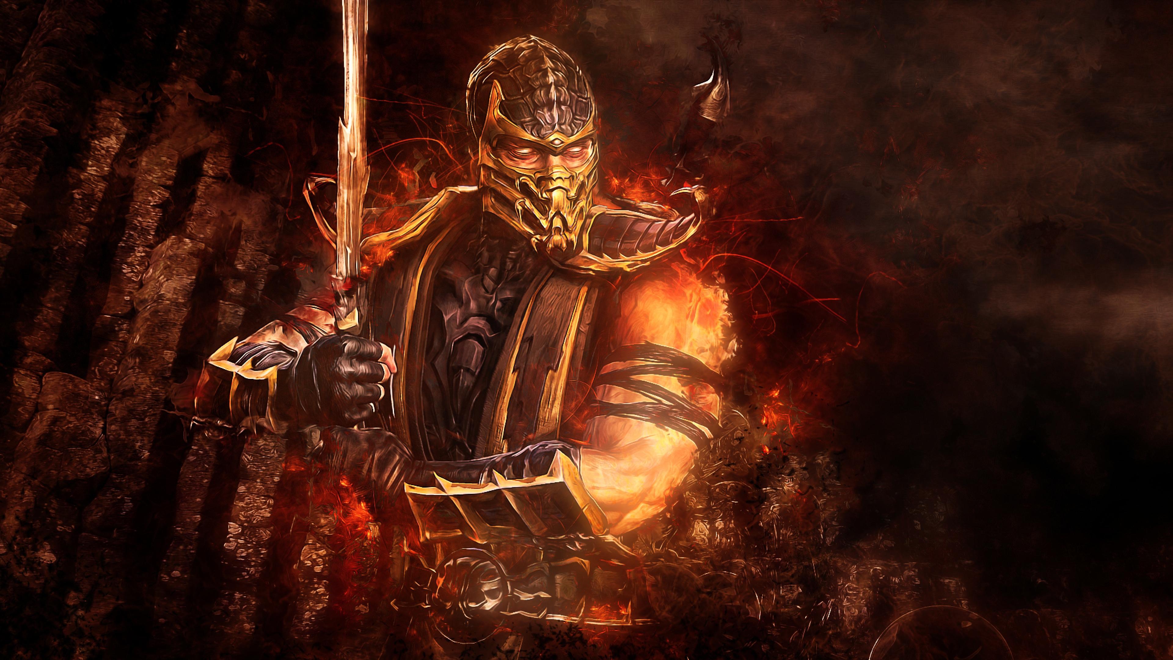 Mortal Kombat Scorpion 2048x1152 Resolution