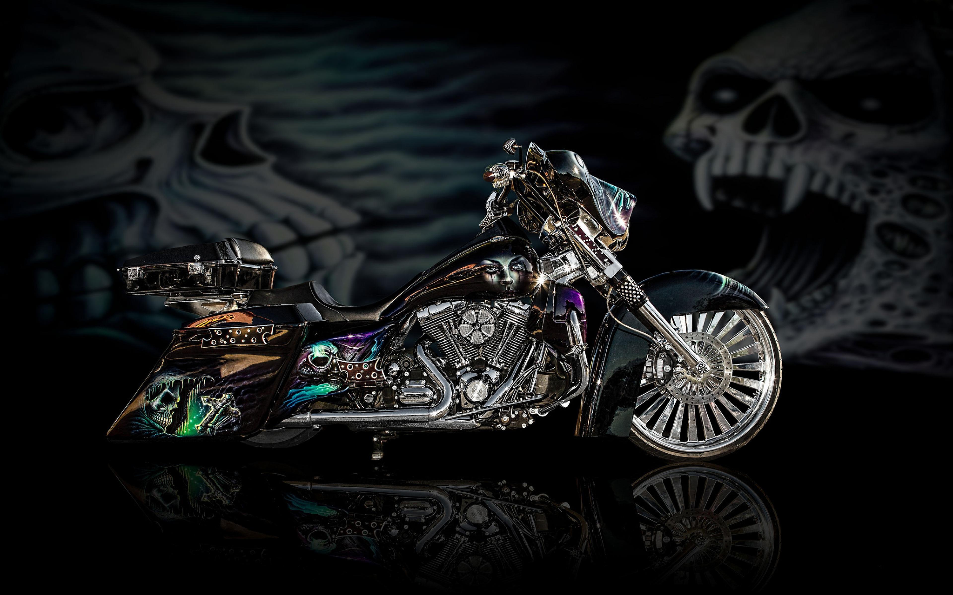 Luxury Motorcycle Hd Wallpapers: Motorcycles Bike Design Airbrush, HD Bikes, 4k Wallpapers