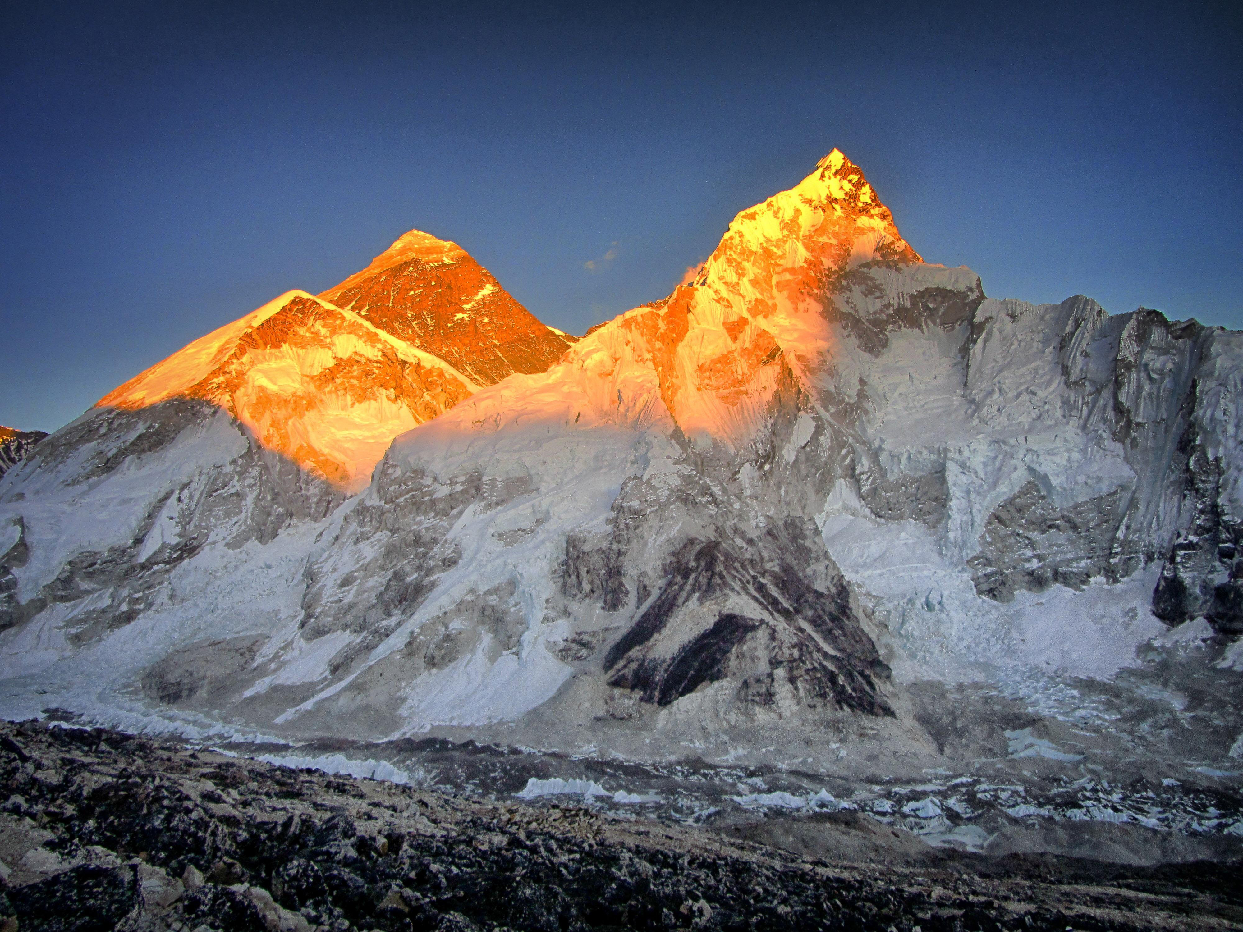 Mount Everest Sunset 4k, HD Artist, 4k Wallpapers, Images
