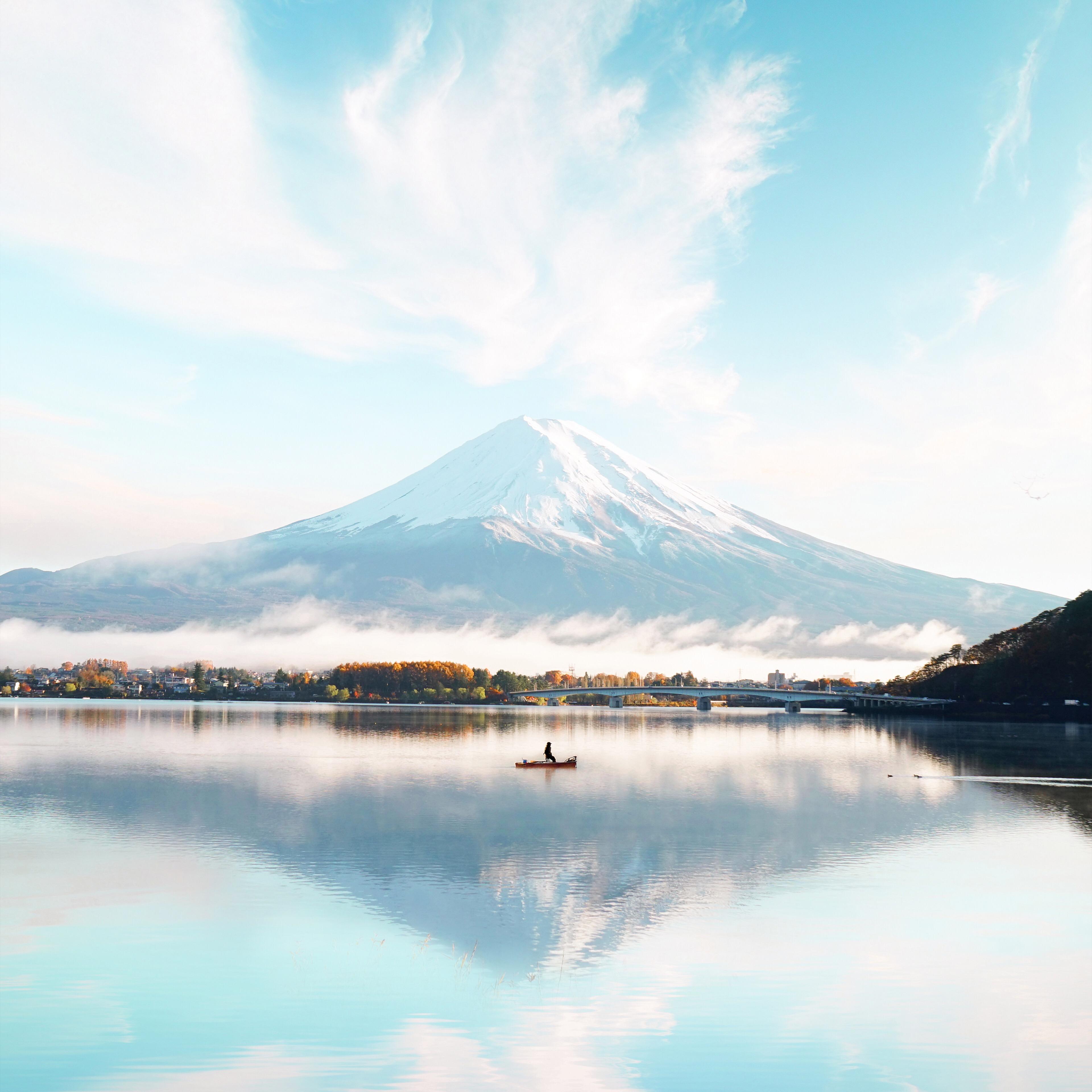 Smartphone Wallpaper 4k Nature: Mount Fuji Blue Bright Day 4k, HD Nature, 4k Wallpapers