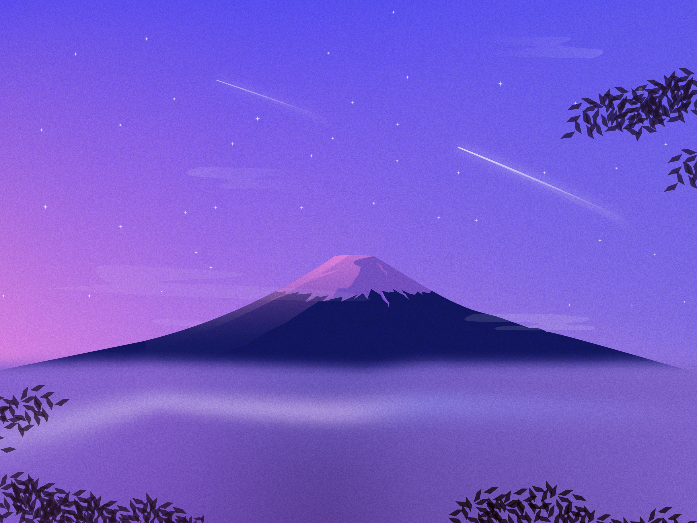 Mount Fuji Minimal Hd Artist 4k Wallpapers Images